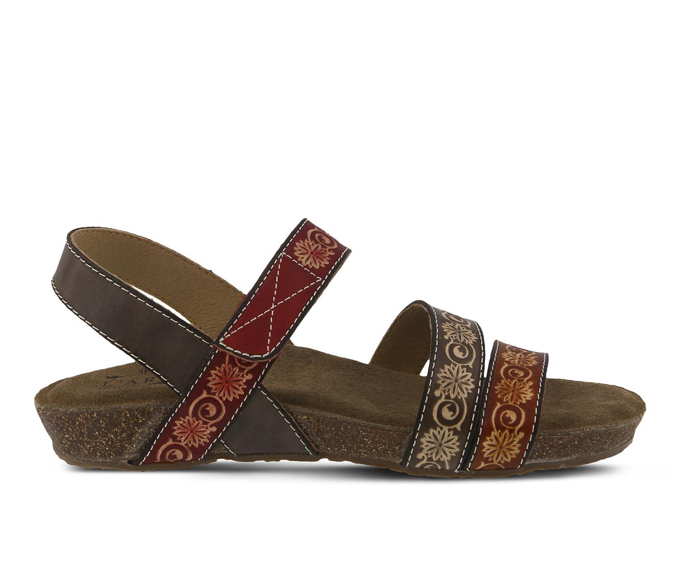 L'Artiste Paldina Women's Sandal (Gray Leather)