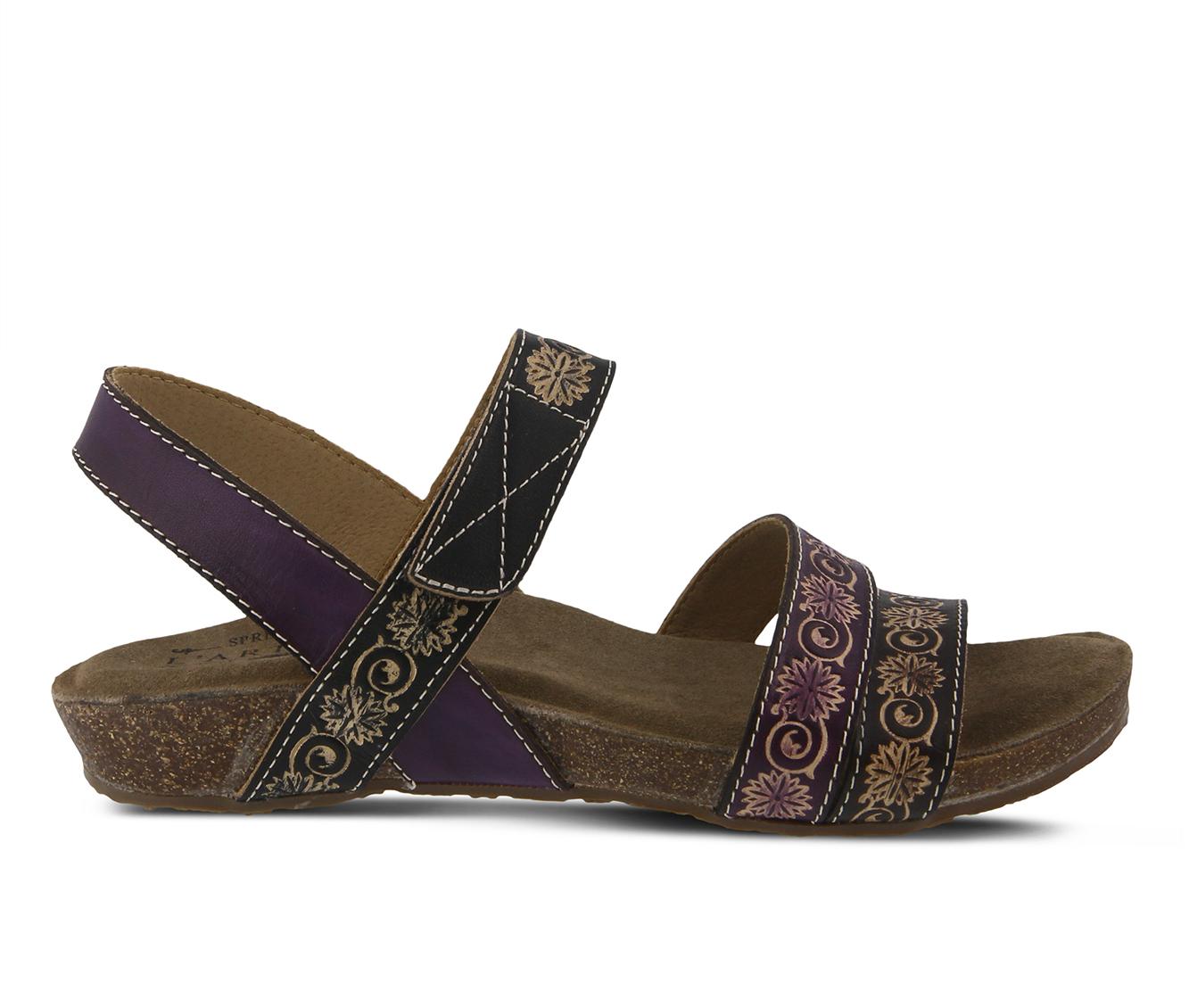 L'Artiste Paldina Women's Sandal (Purple Leather)