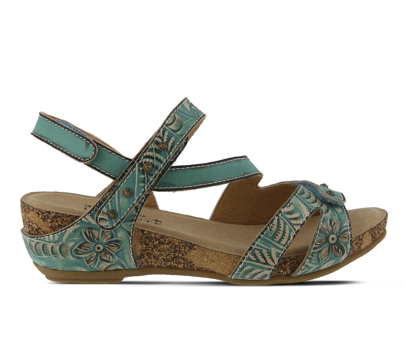 L'Artiste Quilana Women's Sandal (Blue Leather)