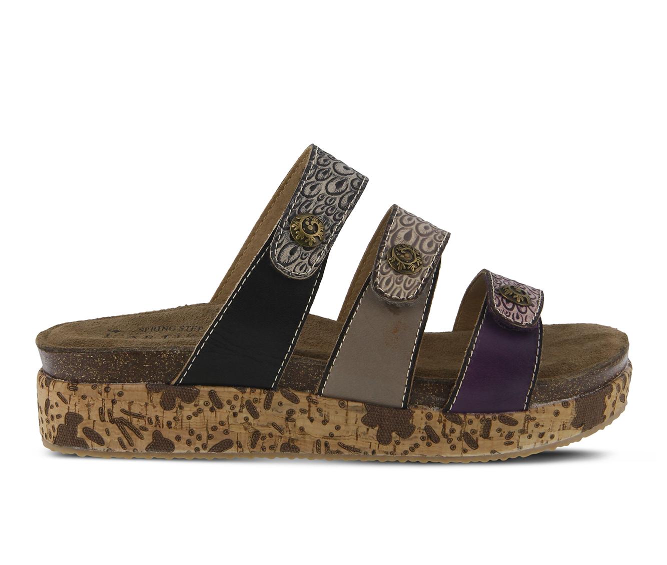 L'Artiste Keena Women's Sandal (Purple Leather)