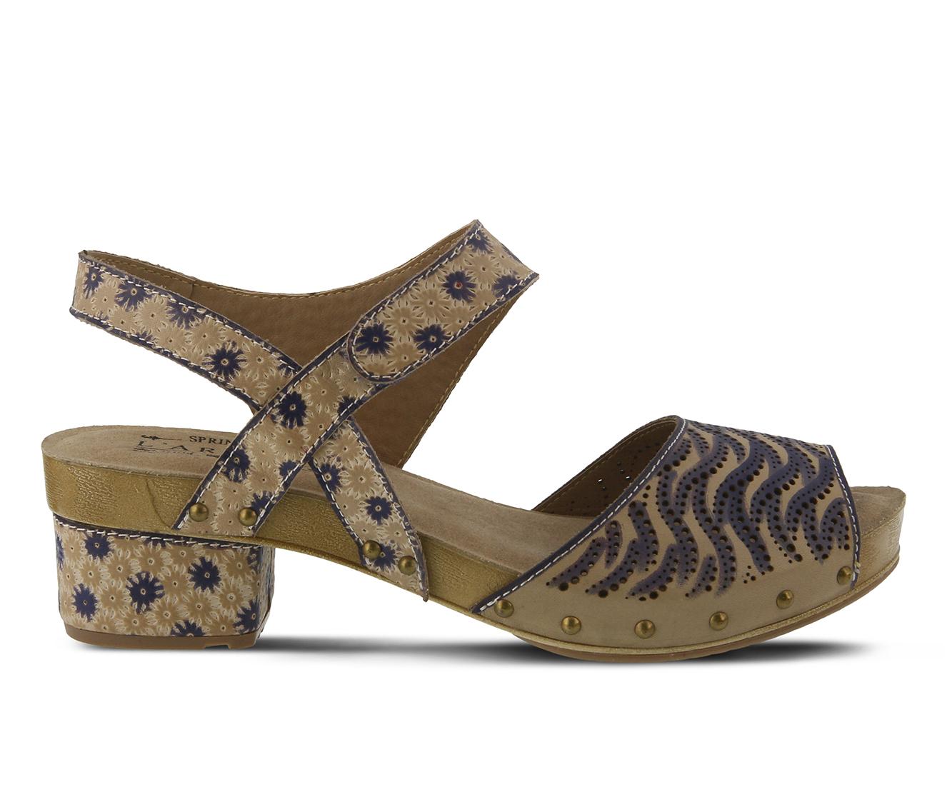 L'Artiste Gloga Women's Sandal (Beige Leather)