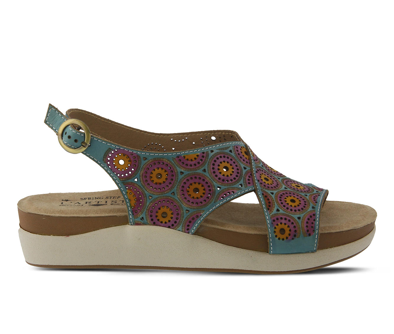 L'Artiste Erice Women's Sandal (Blue Leather)