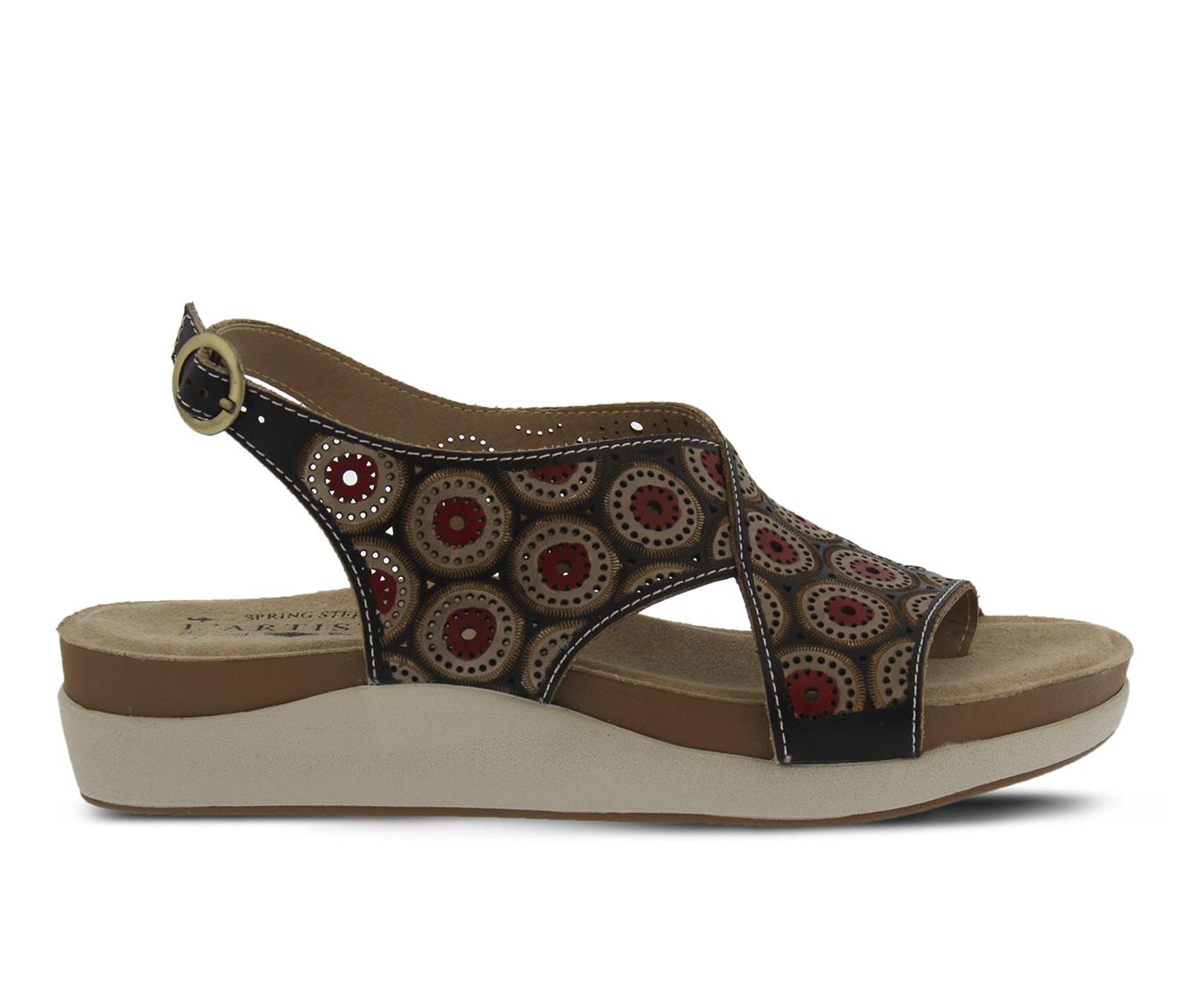 L'Artiste Erice Women's Sandal (Black Leather)