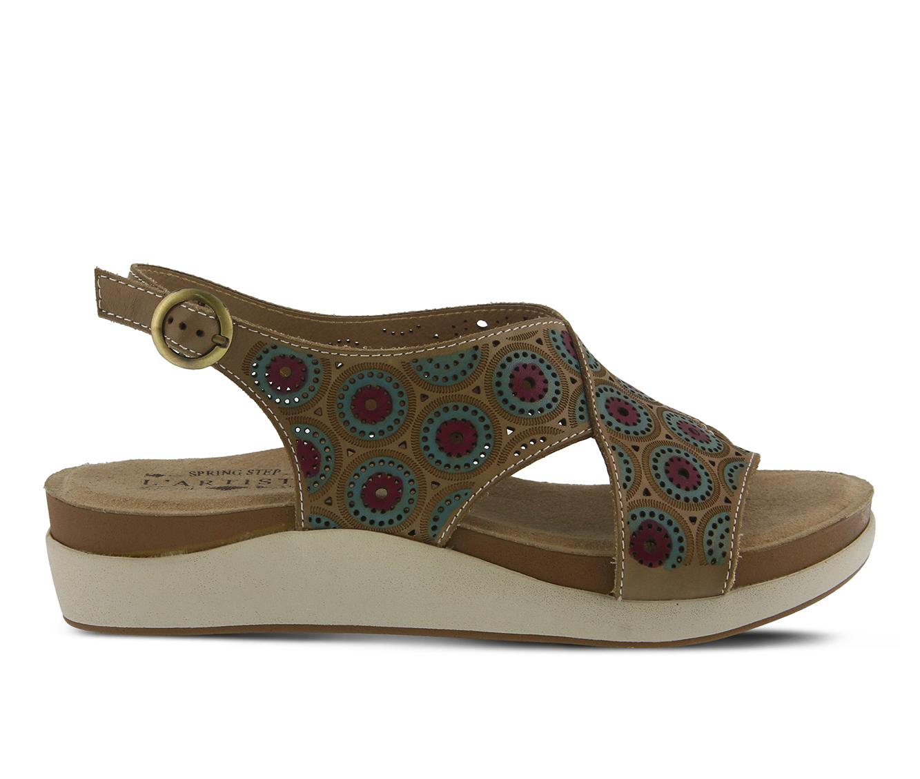 L'Artiste Erice Women's Sandal (Beige Leather)