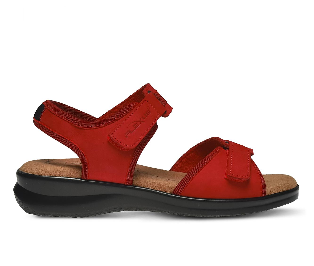 Flexus Danila Women's Sandal (Red Leather)