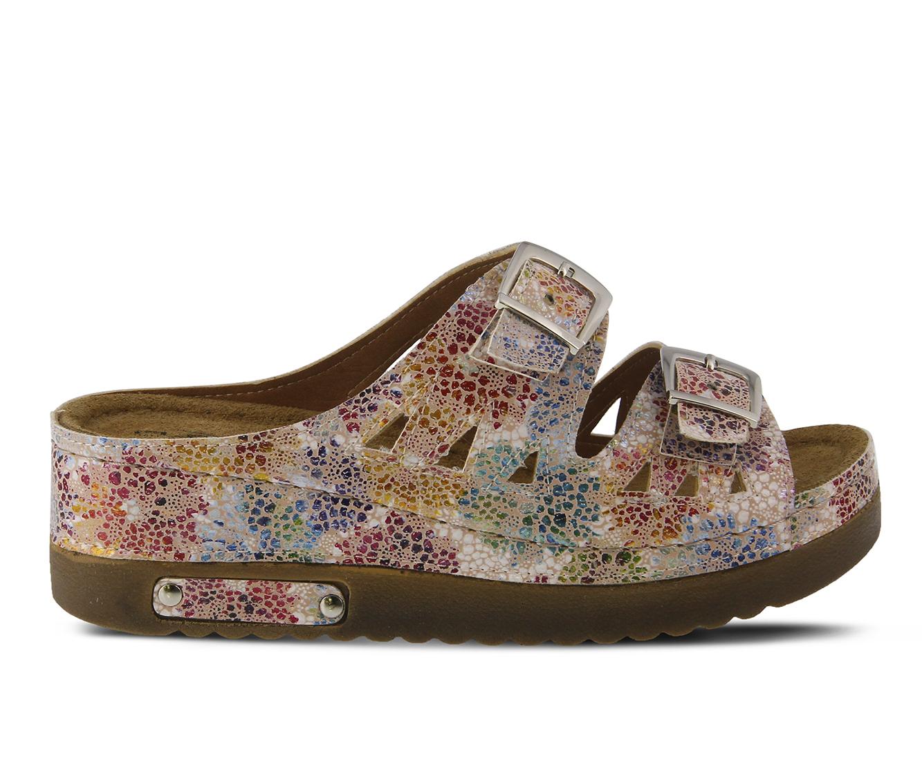 Flexus Delsie Women's Sandal (Pink Faux Leather)