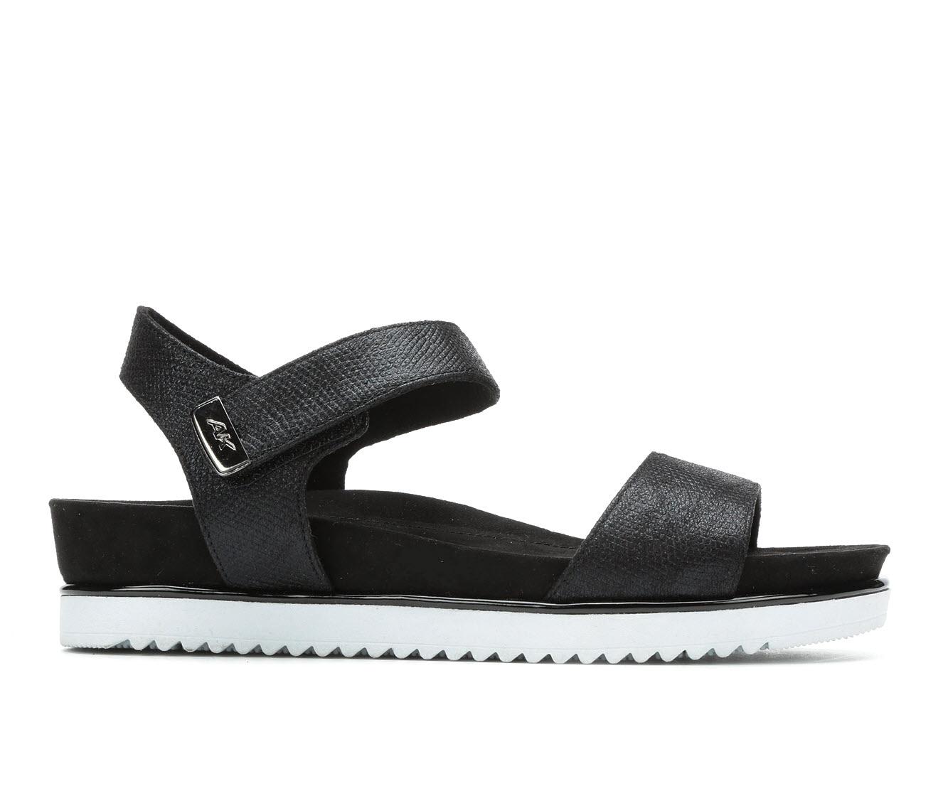 Anne Klein Sport Lela Women's Sandal (Black Canvas)