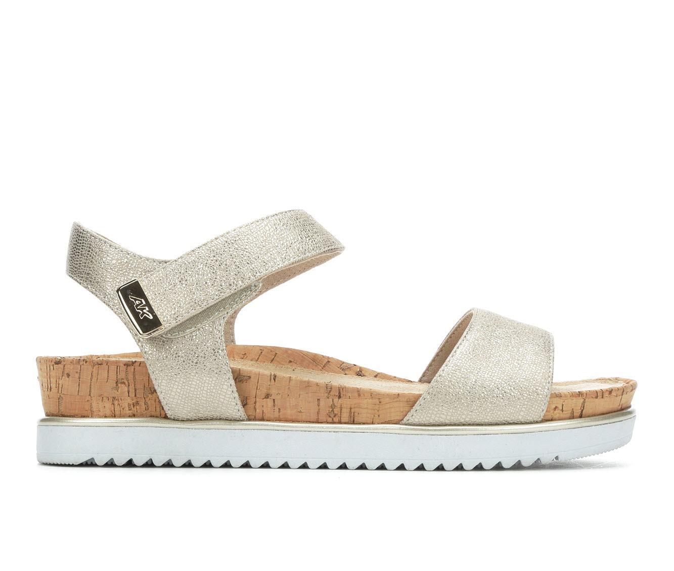 Anne Klein Sport Lela Women's Sandal (Beige Canvas)