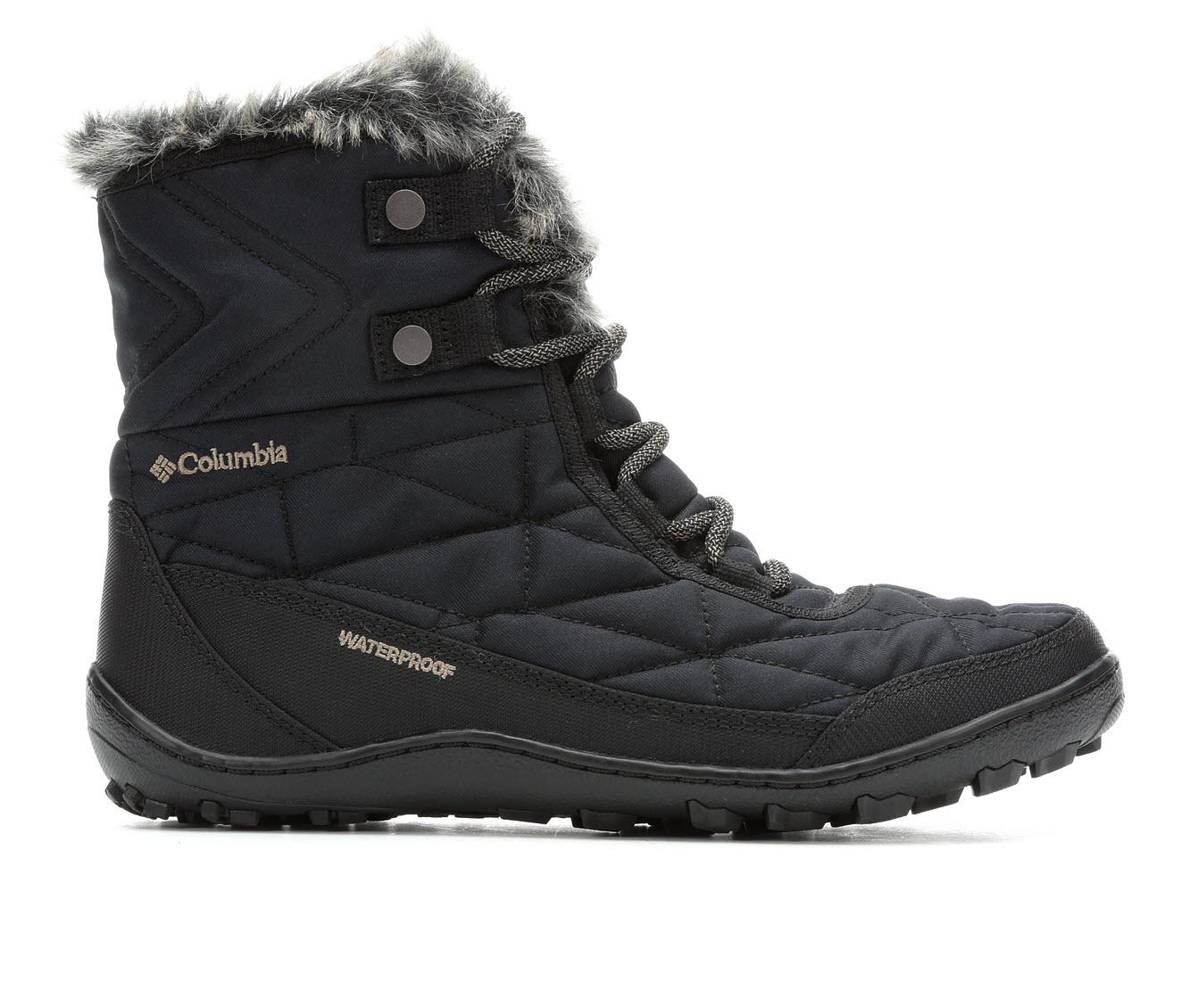 Columbia Minx Shortyy III Omni-Heat Women's Boots (Black - Canvas)