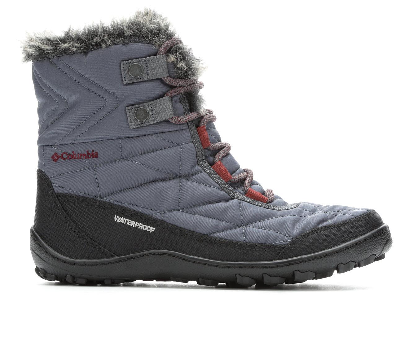 Columbia Minx Shortyy III Omni-Heat Women's Boots (Gray - Canvas)