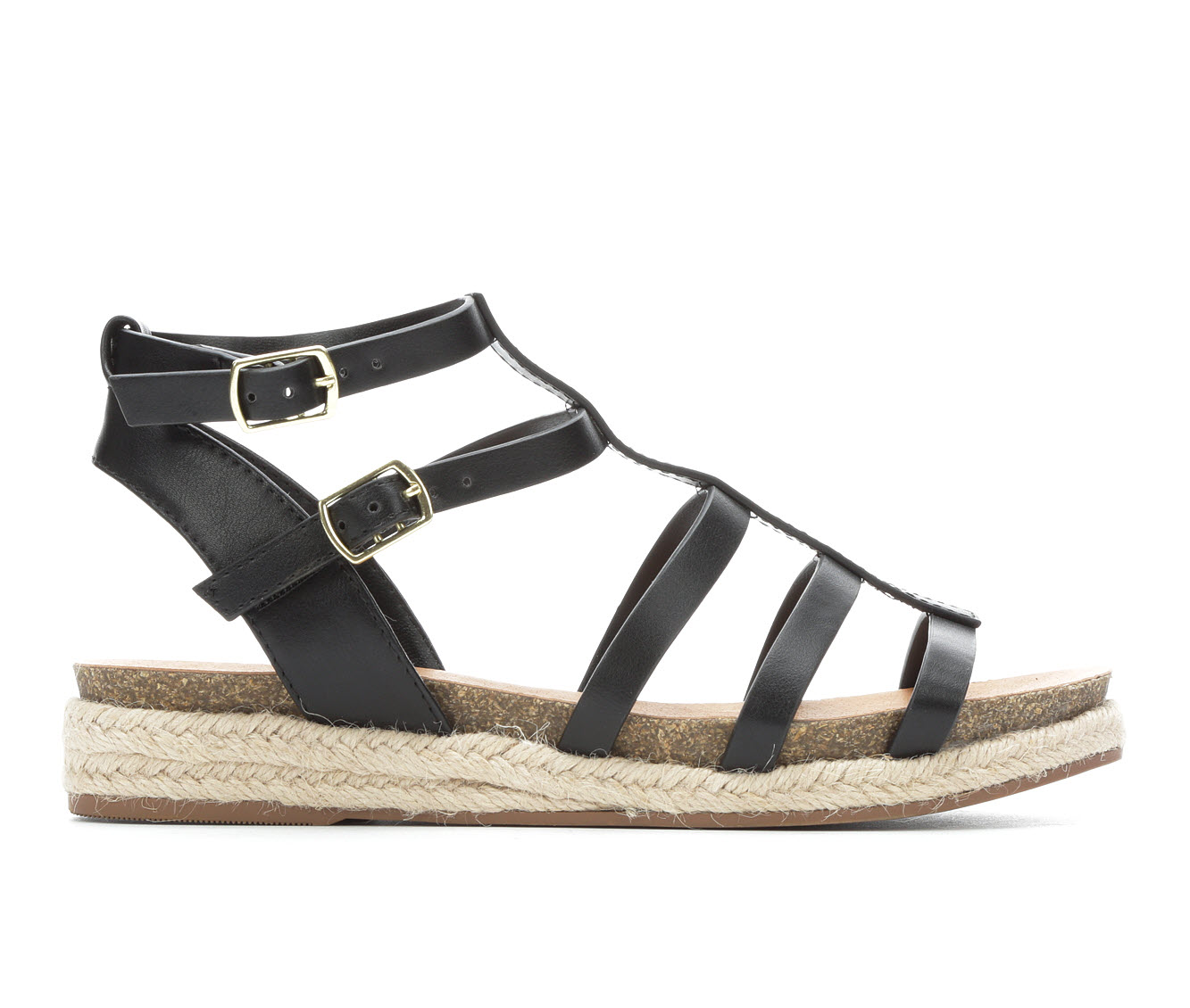 City Classified Faster Women's Sandal (Black Faux Leather)