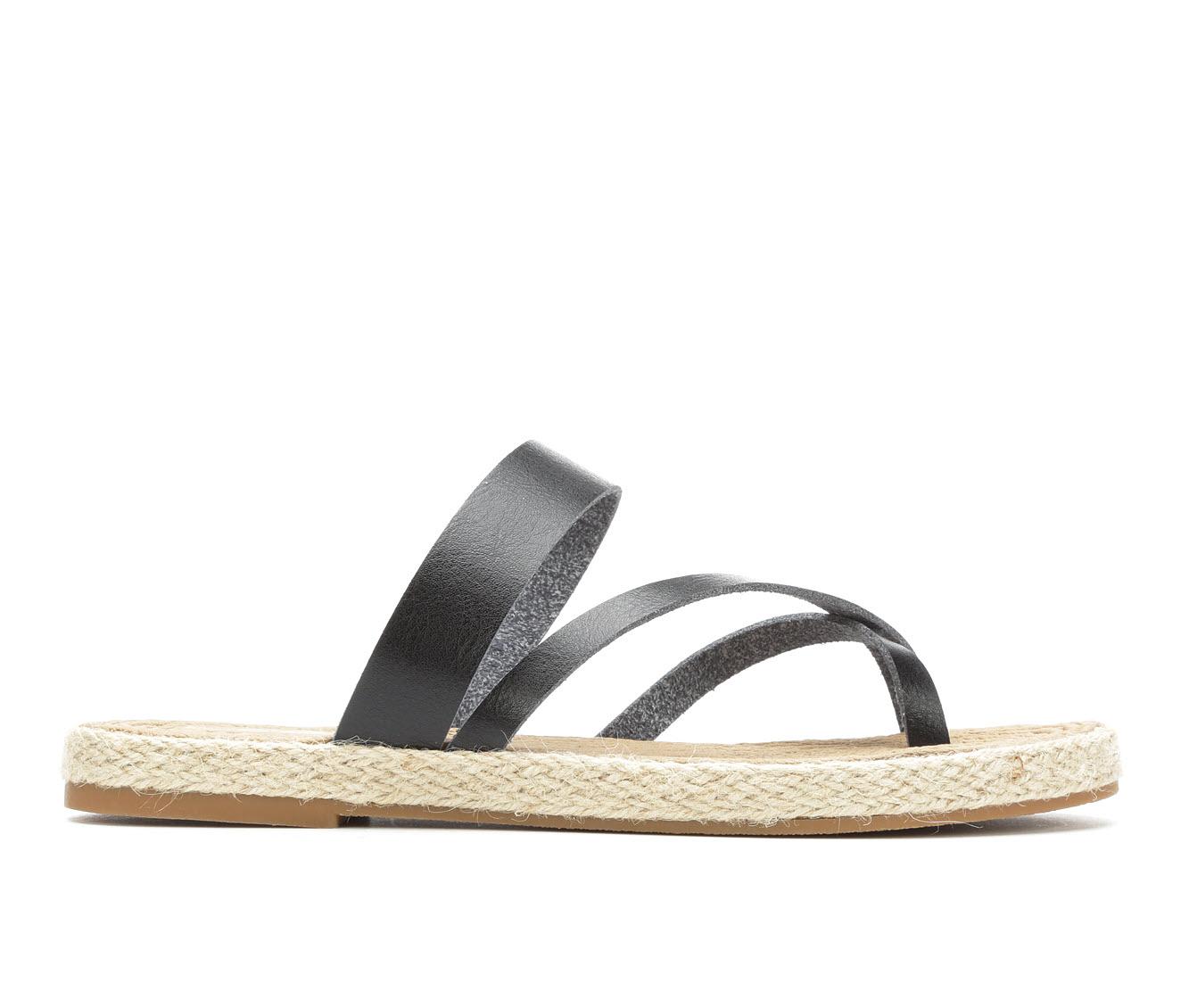 Soda October Women's Sandal (Black Faux Leather)