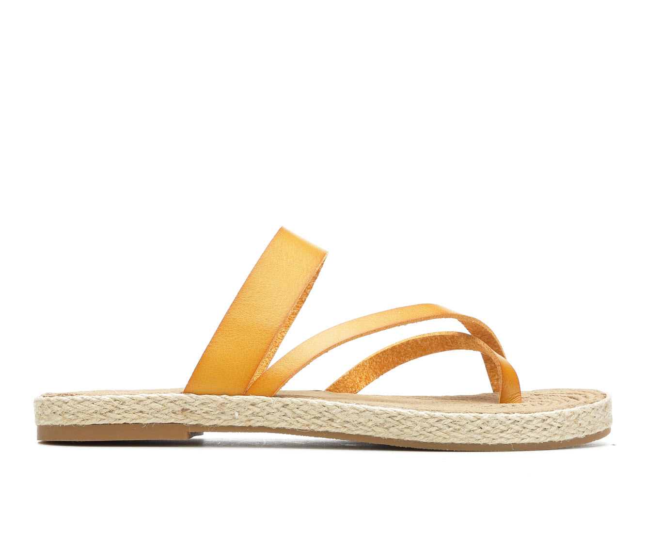 Soda October Women's Sandal (Yellow Faux Leather)