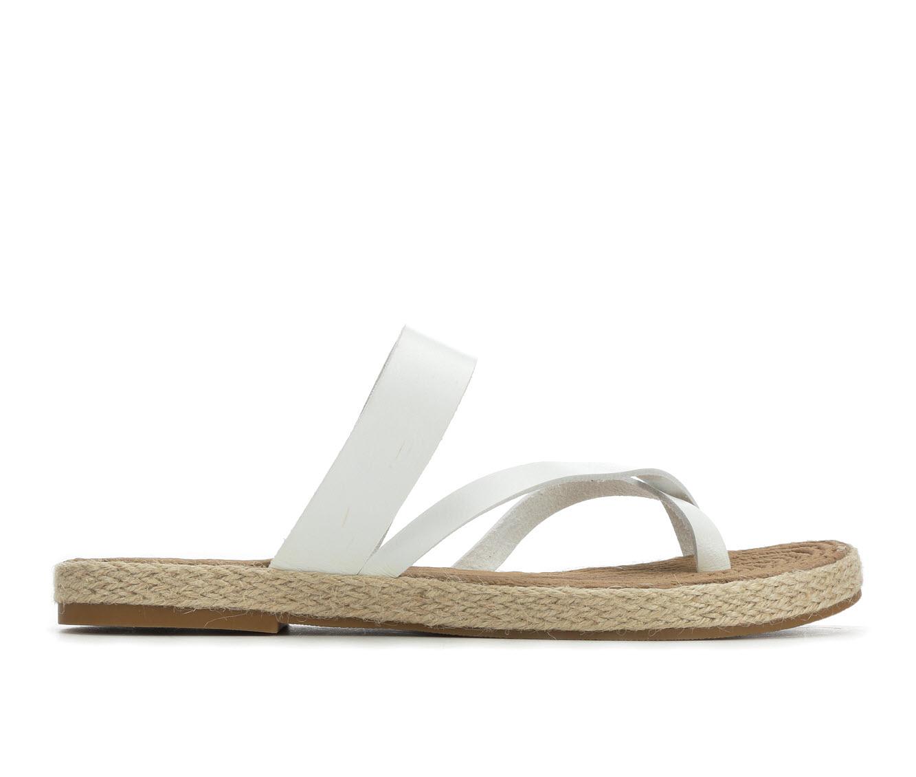 Soda October Women's Sandal (White Faux Leather)