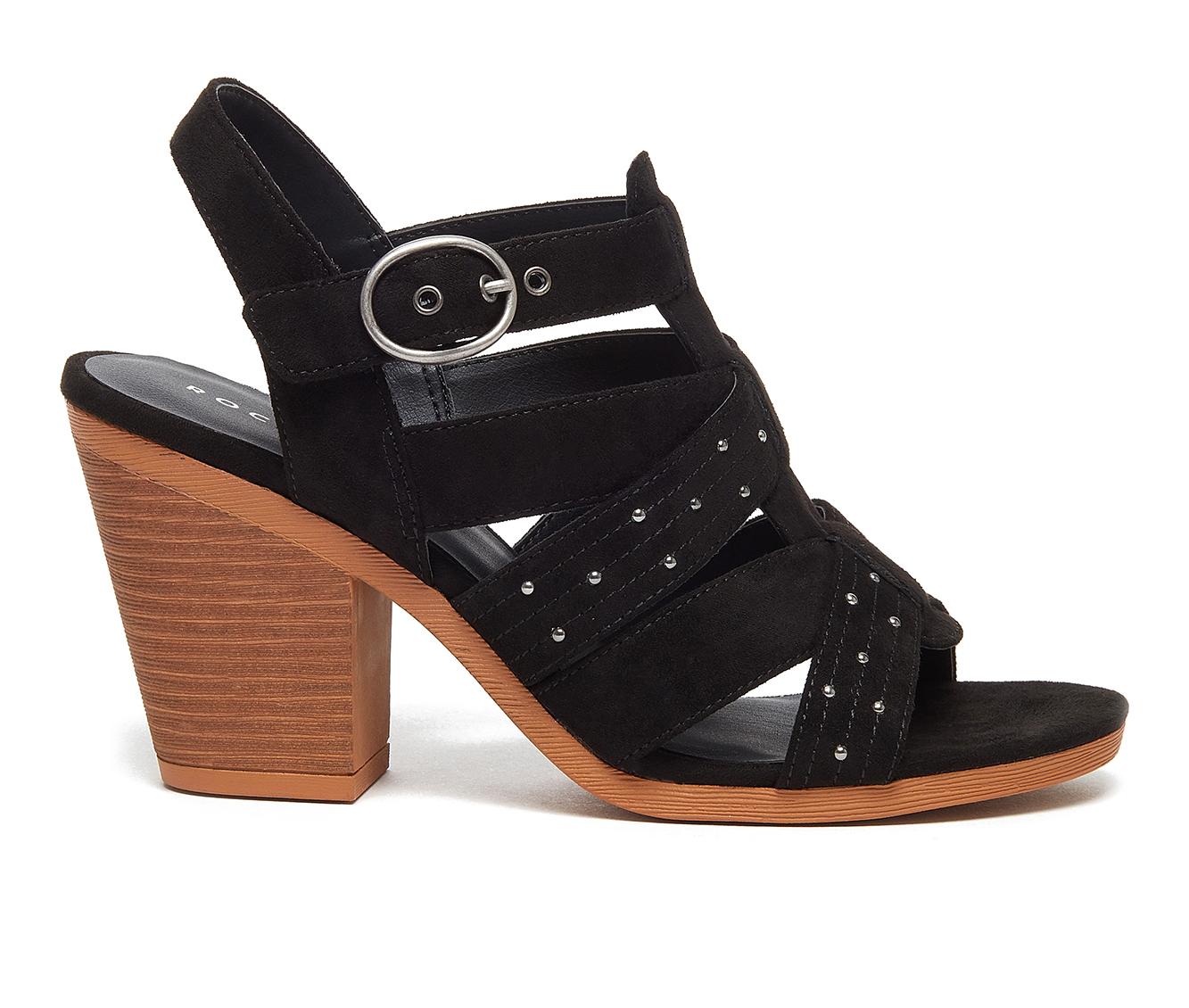 Rocket Dog Yeehaw Women's Dress Shoe (Black Faux Leather)