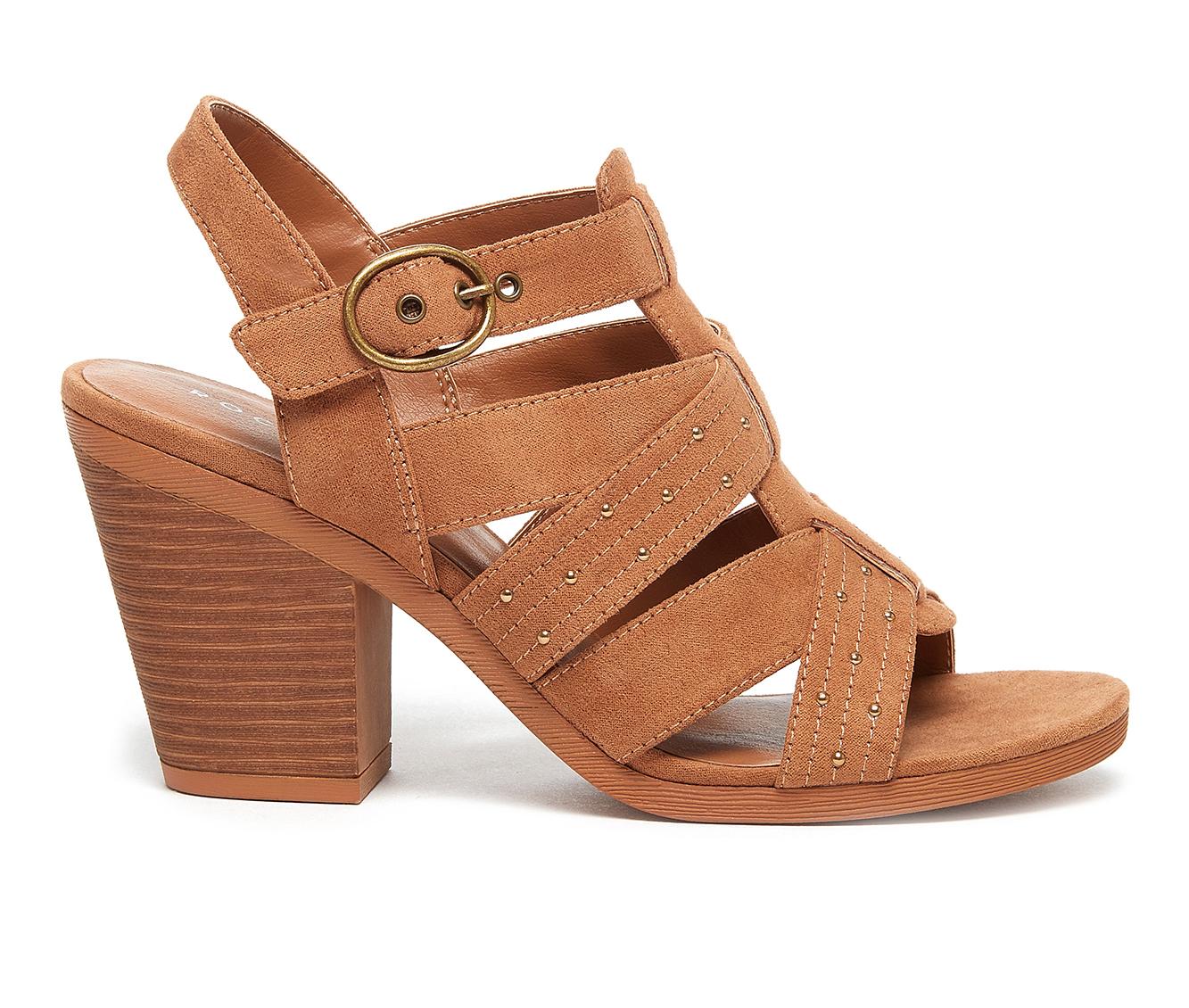 Rocket Dog Yeehaw Women's Dress Shoe (Brown Faux Leather)