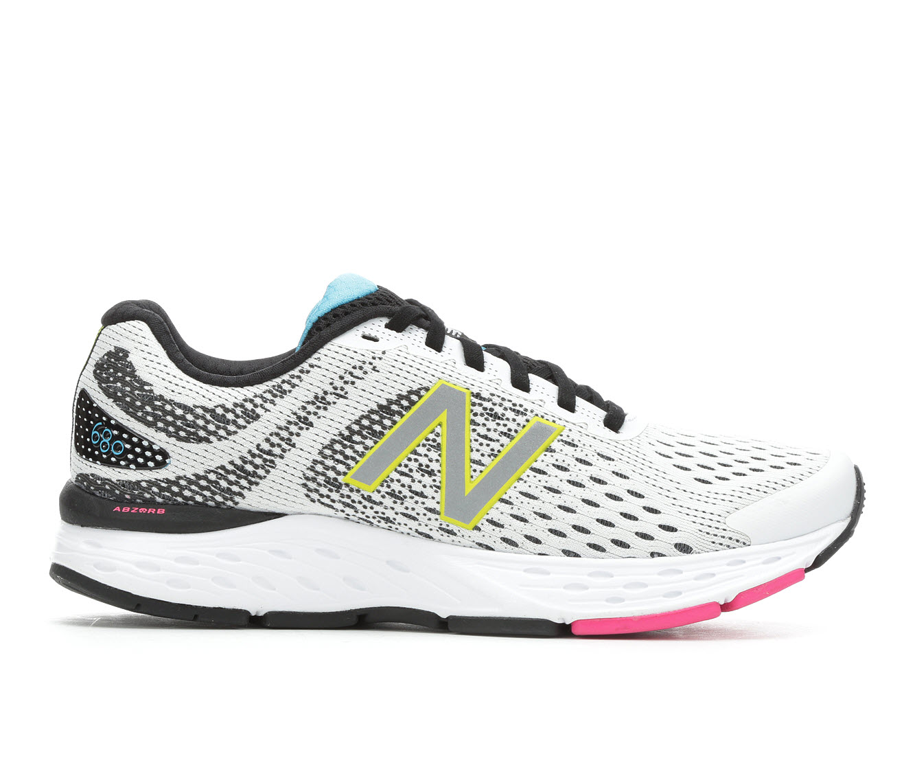 New Balance W680v6 Women's Athletic Shoe (White)
