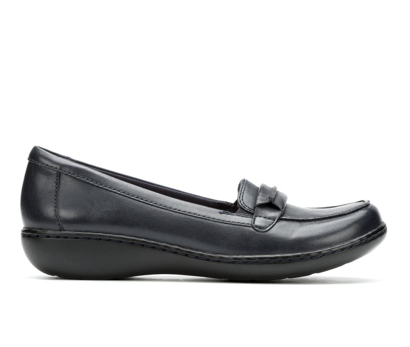 Clarks Ashland Lily Women's Shoe (Blue Leather)