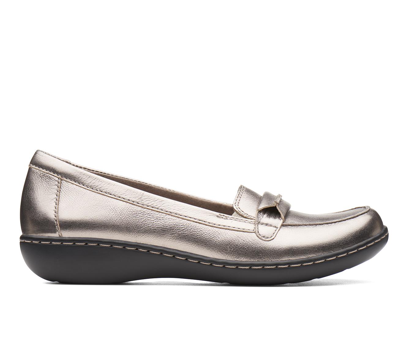 Clarks Ashland Lily Women's Shoe (Gray Leather)