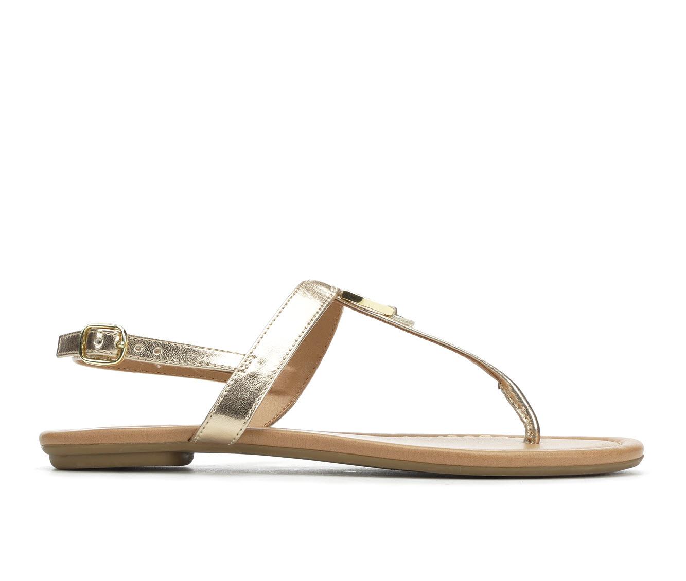 Solanz Gallant Women's Sandal (Gold Faux Leather)