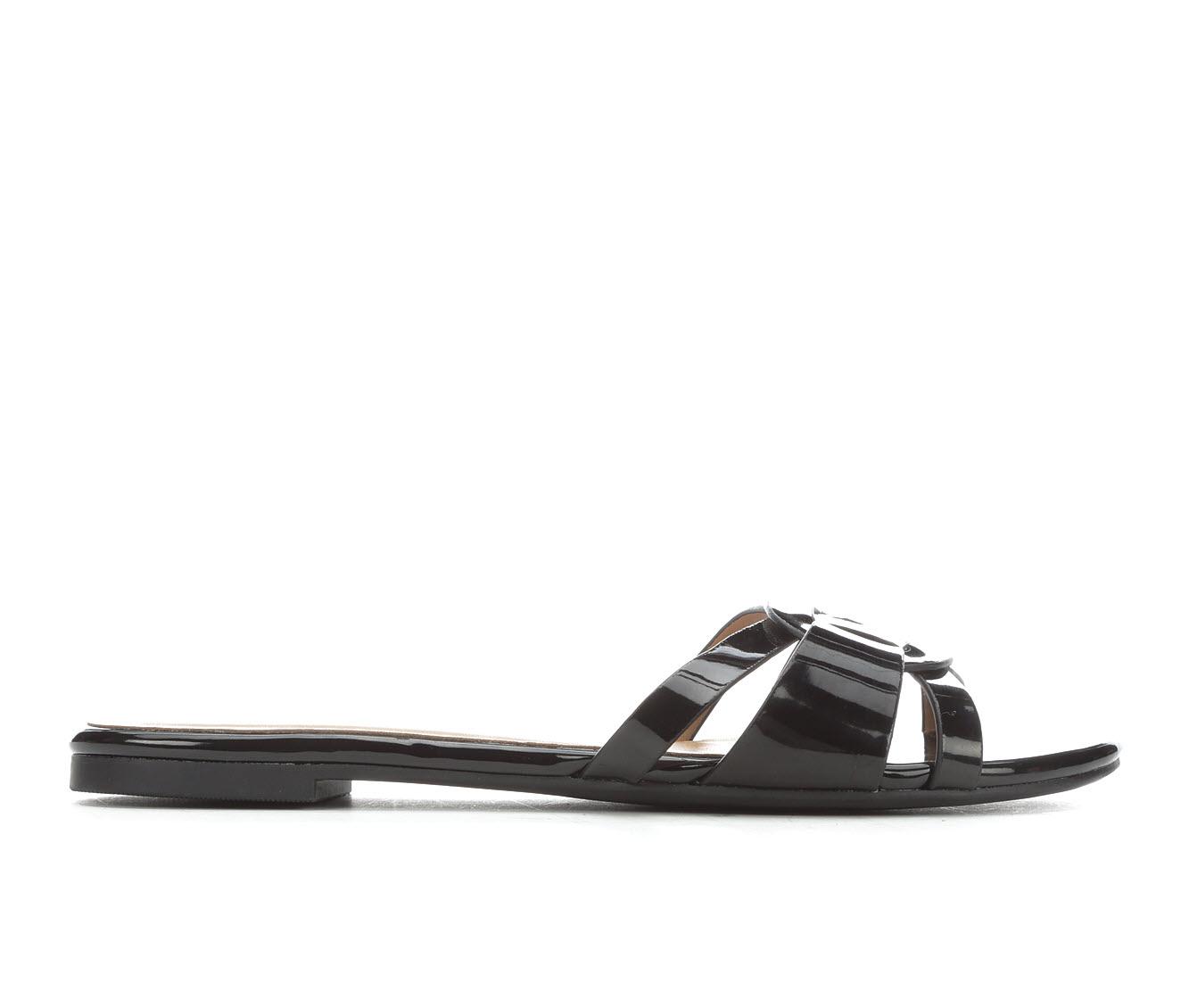 Y-Not Betony Women's Sandal (Black Faux Leather)