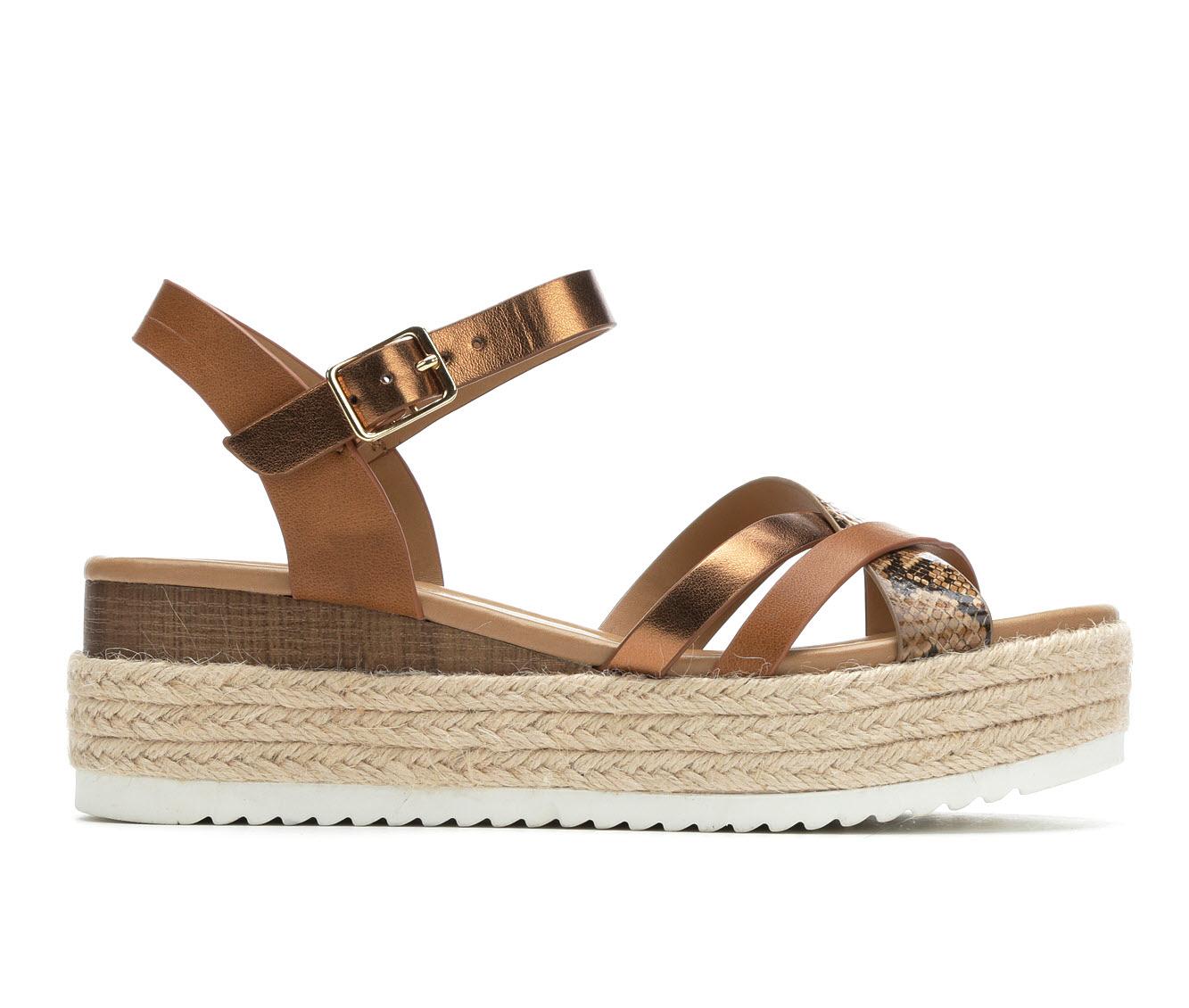 Unr8ed Anita Women's Sandal (Beige Faux Leather)