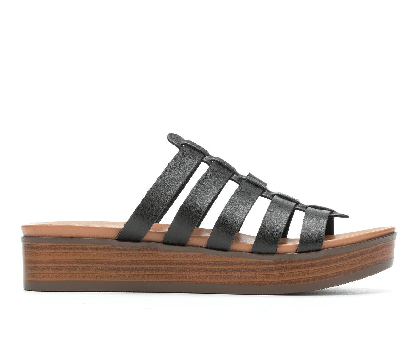 Unr8ed Intern Women's Sandal (Black Faux Leather)