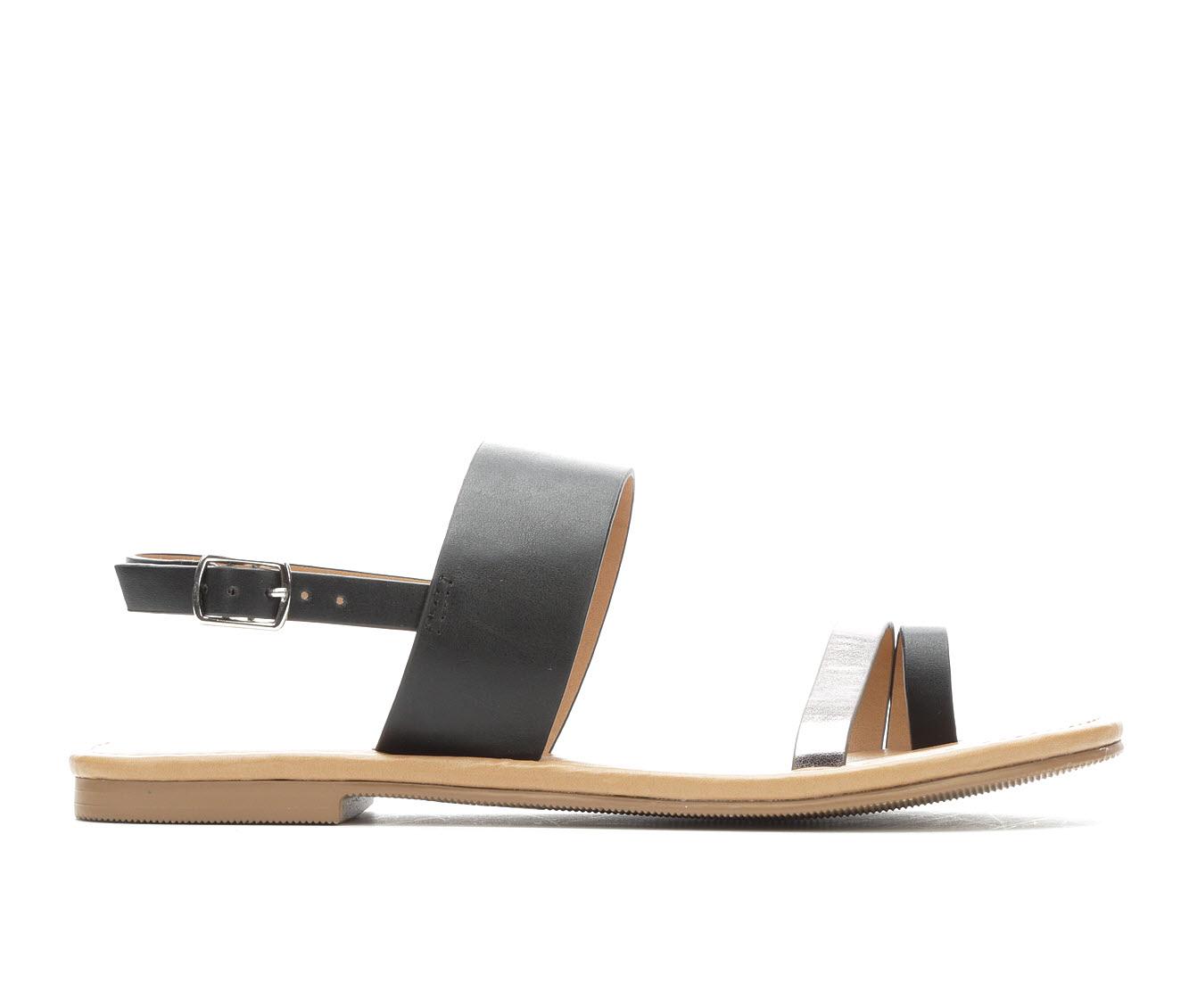 Unr8ed Bonita Women's Sandal (Black Faux Leather)
