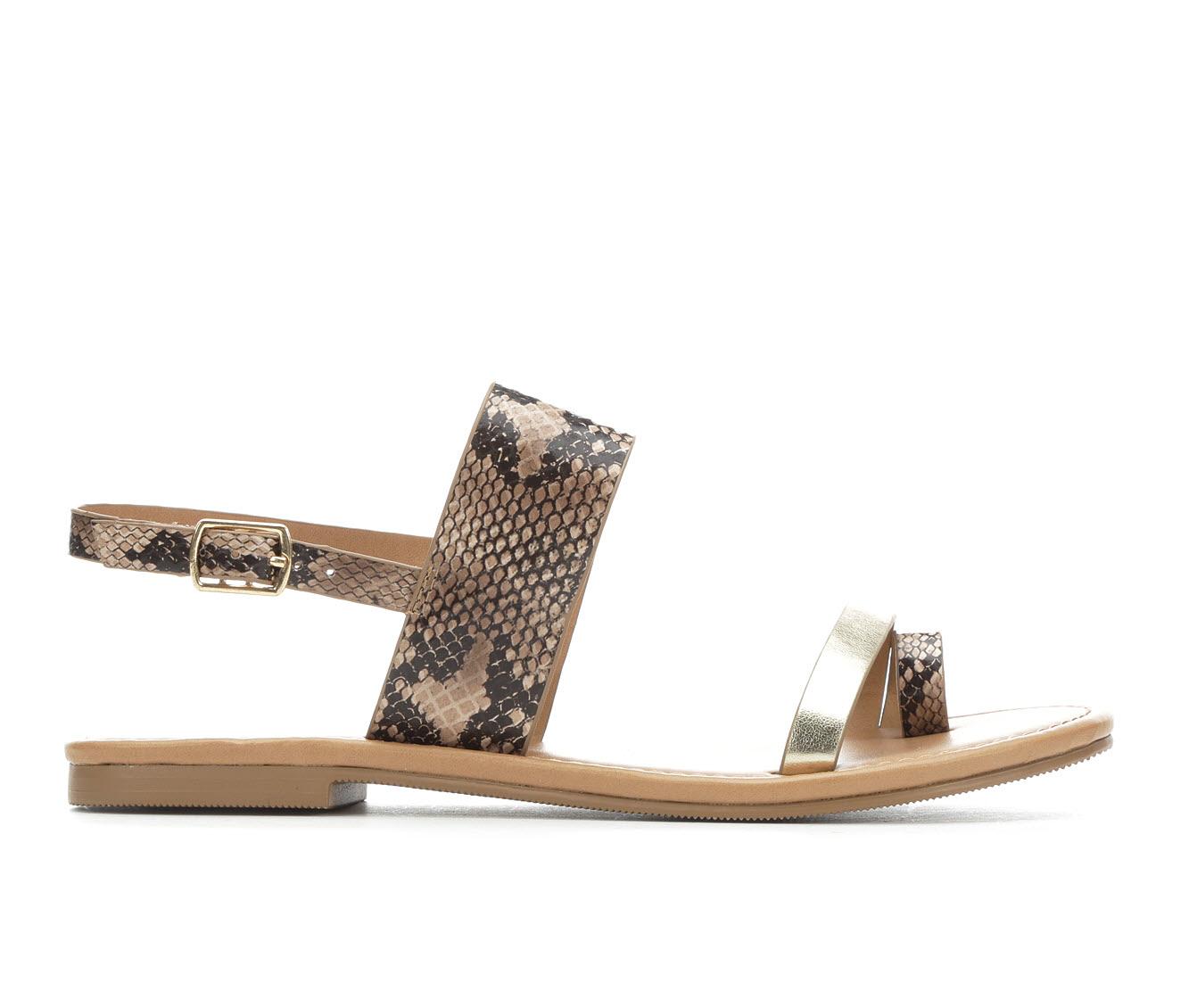 Unr8ed Bonita Women's Sandal (Beige Faux Leather)
