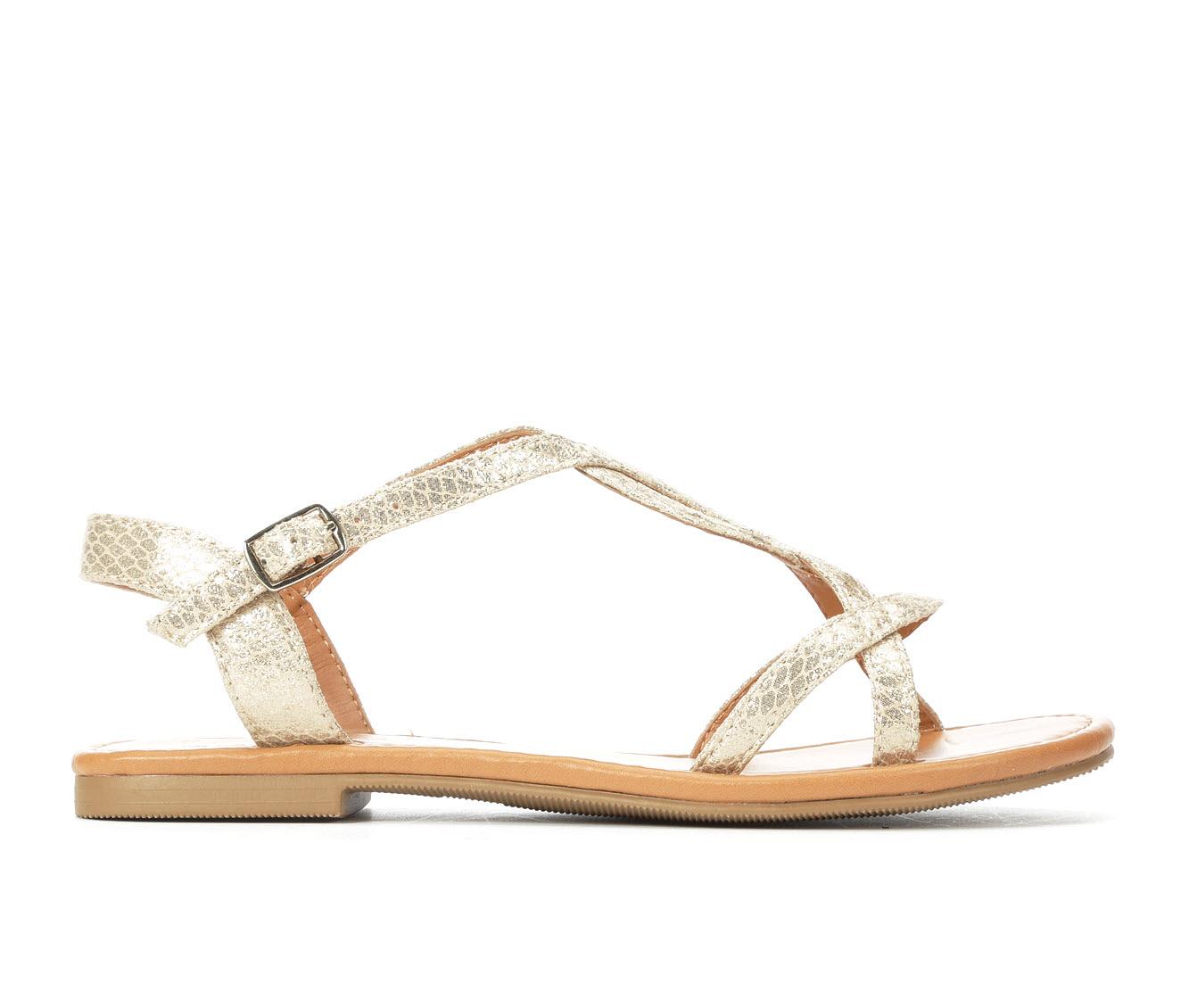 Solanz Agent Women's Sandal (Gold Faux Leather)