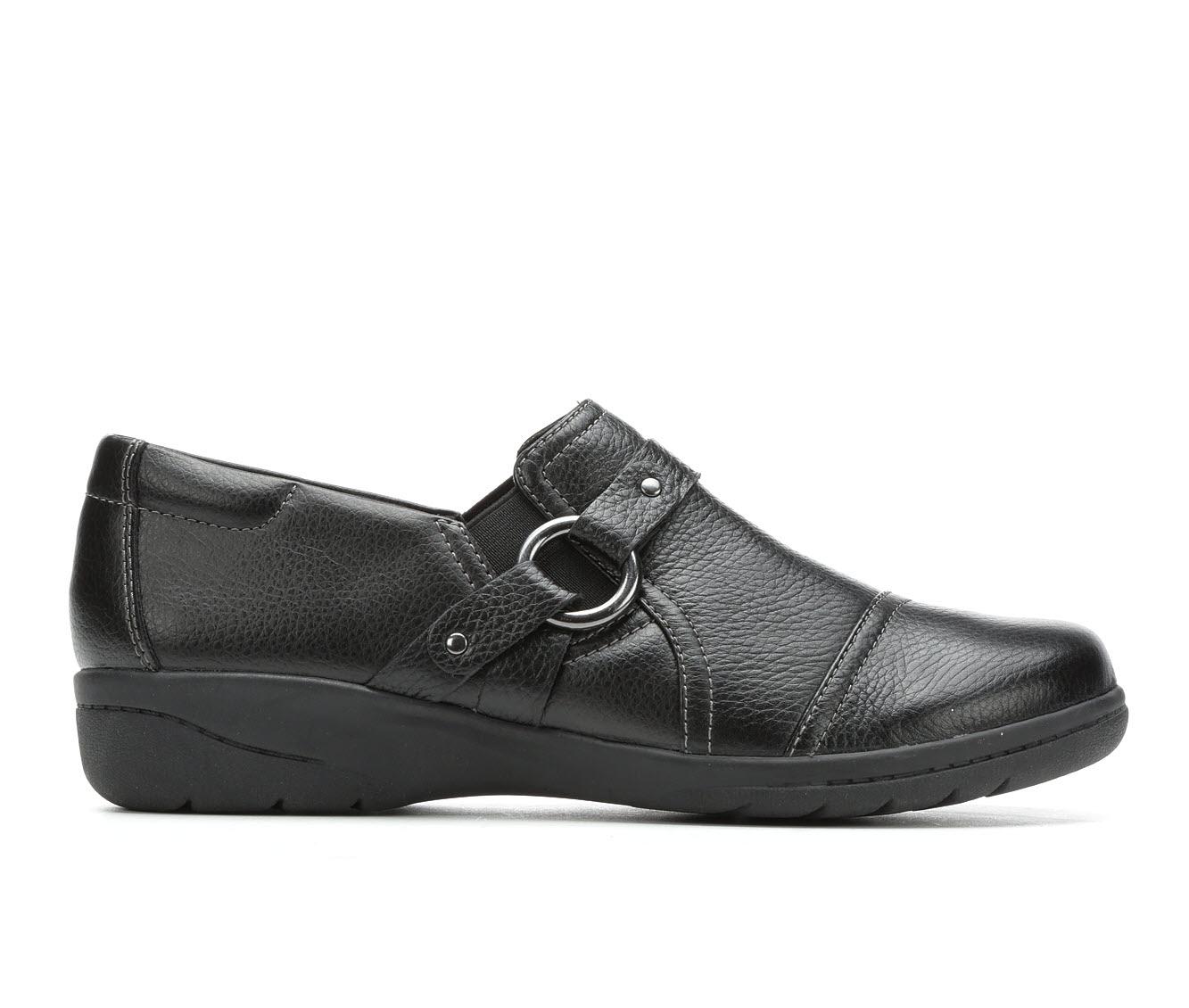 Clarks Cheyn Fame Women's Shoe (Black Leather)