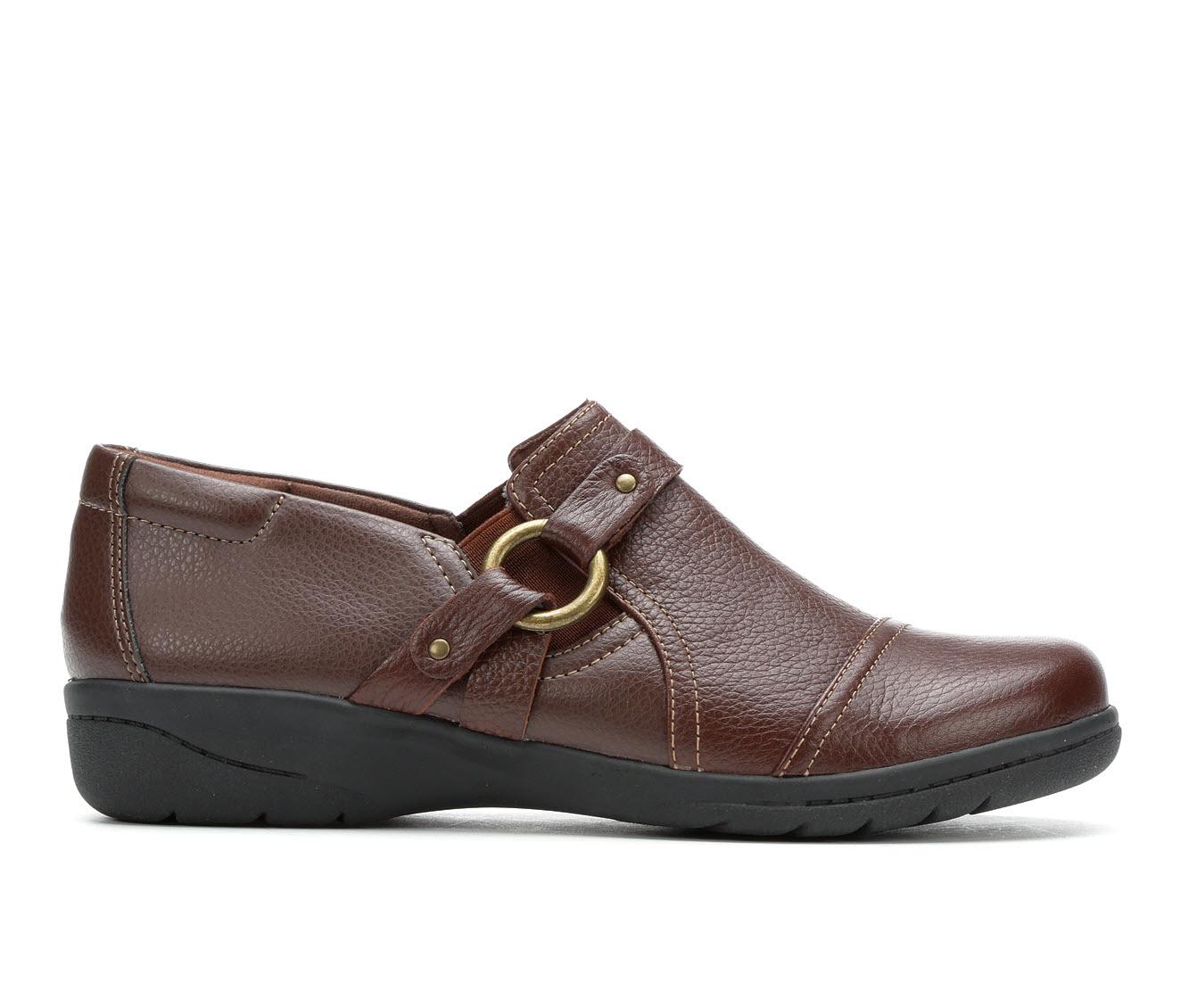 Clarks Cheyn Fame Women's Shoe (Red Leather)