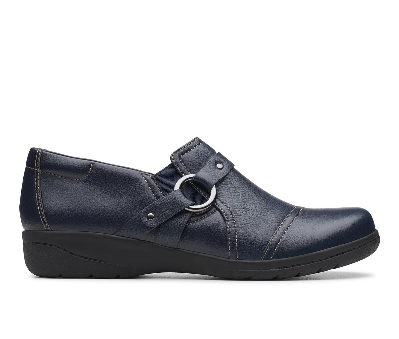 Clarks Cheyn Fame Women's Shoe (Blue Leather)