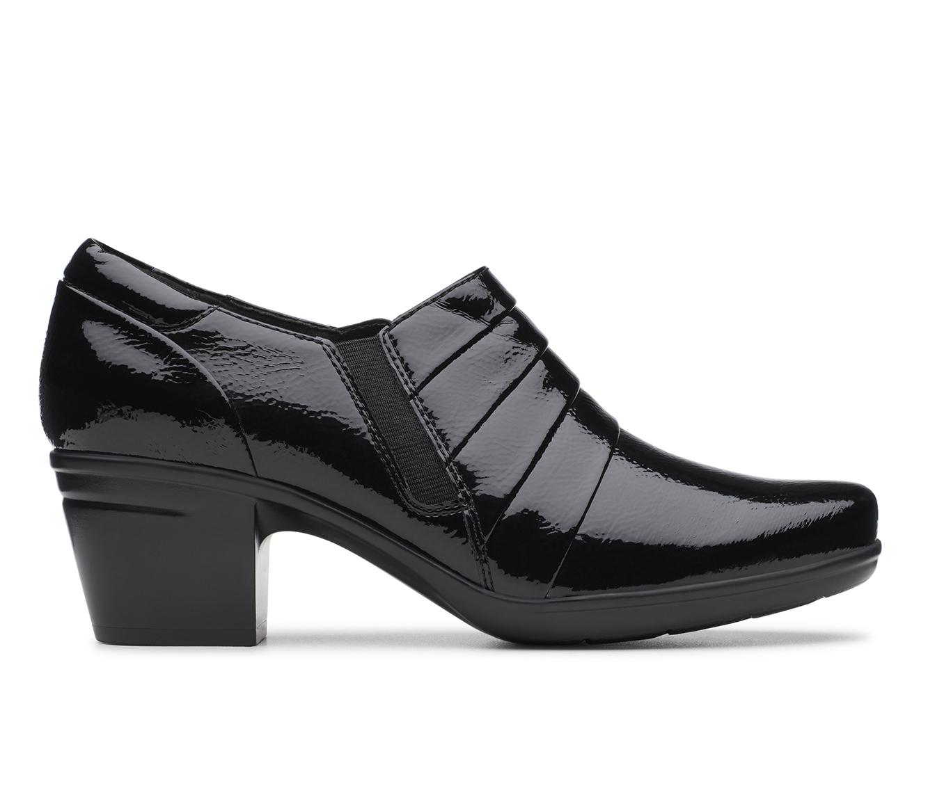 Clarks Emslie Guide Women's Shoe (Black Faux Leather)