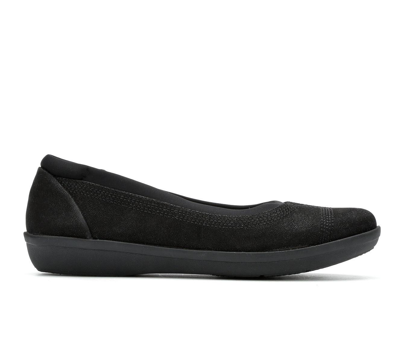 Clarks Ayla Low Women's Shoe (Black Leather)