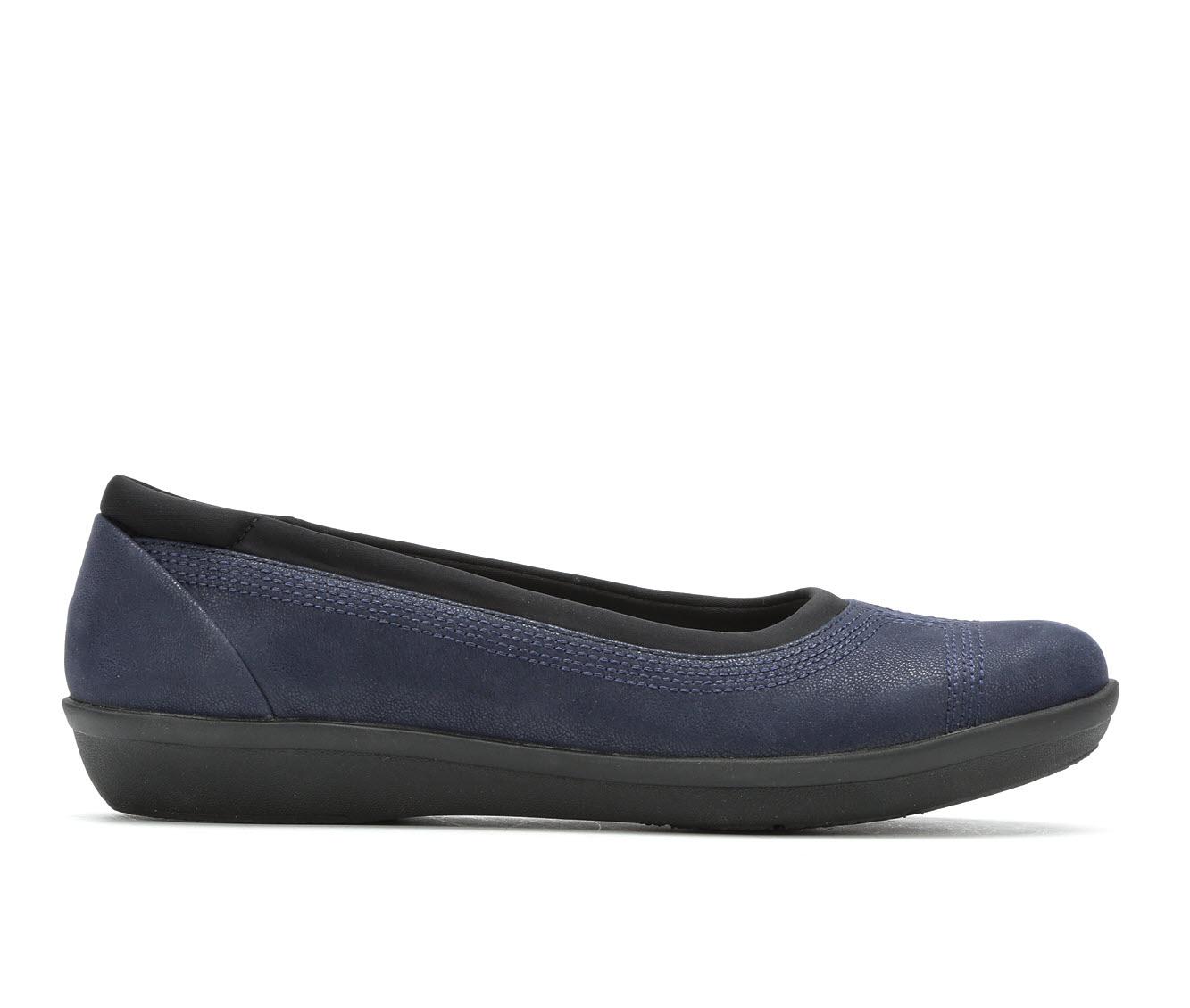 Clarks Ayla Low Women's Shoe (Blue Leather)