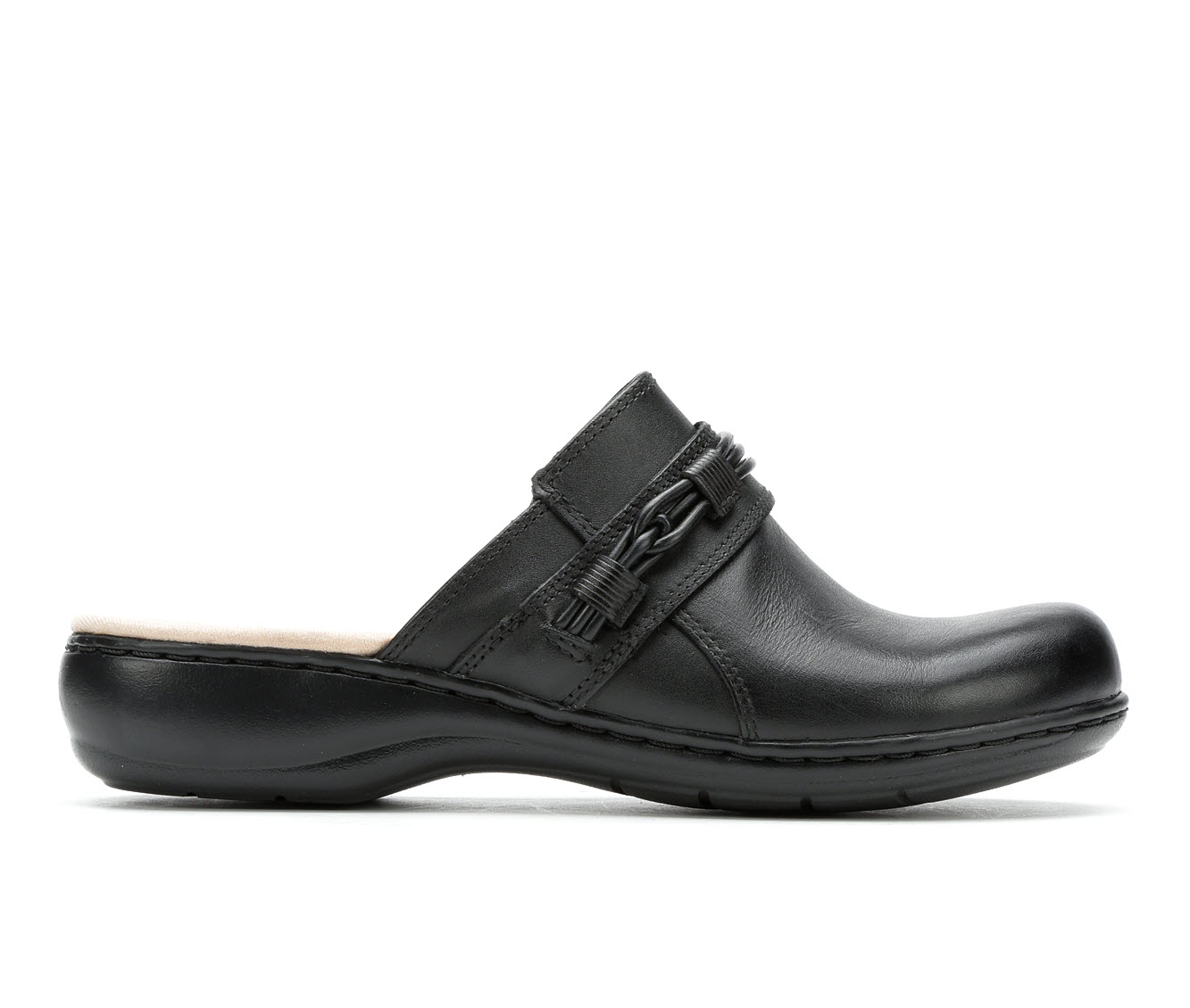 Clarks Leisa Clover Women's Shoe (Black Leather)