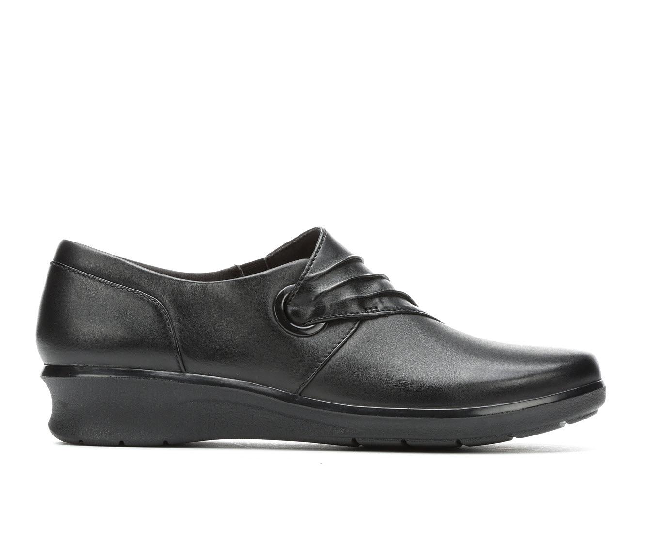 Clarks Hope Shine Women's Shoe (Black Leather)