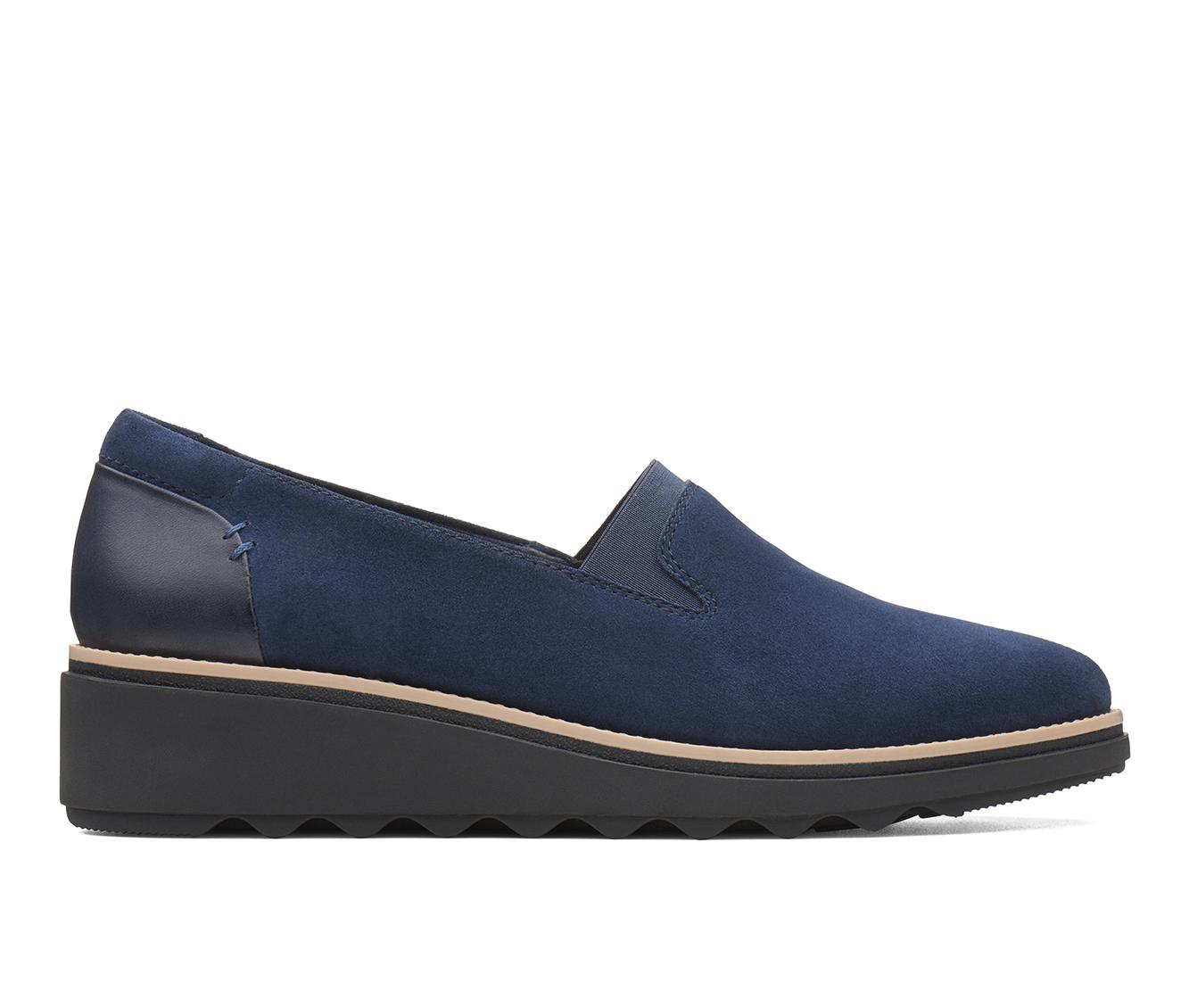 Clarks Sharon Dolly Women's Shoe (Blue Suede)