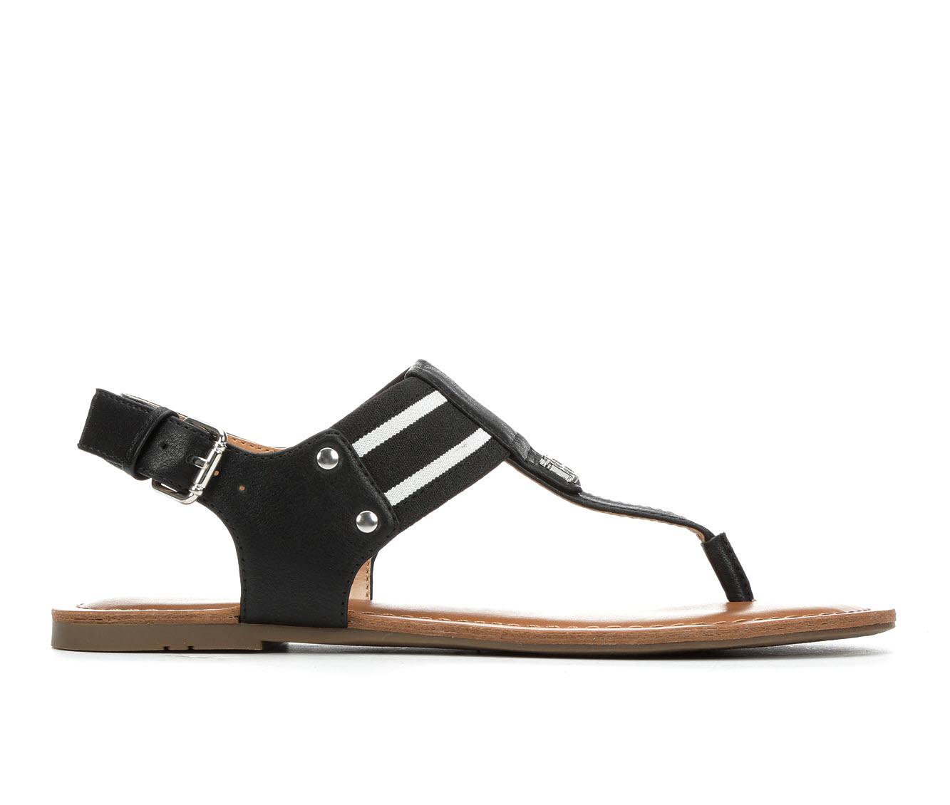 Tommy Hilfiger Lenrick Women's Sandal (Black Faux Leather)