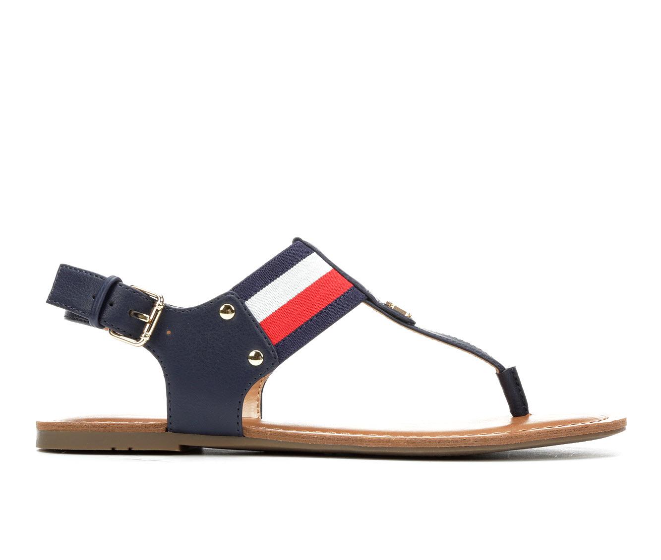 Tommy Hilfiger Lenrick Women's Sandal (Blue Faux Leather)