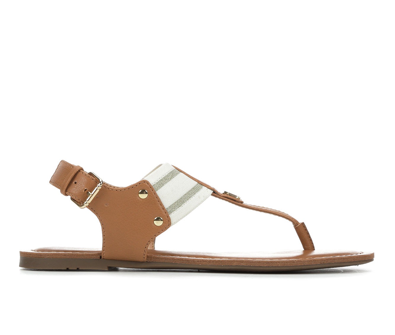 Tommy Hilfiger Lenrick Women's Sandal (Beige Faux Leather)