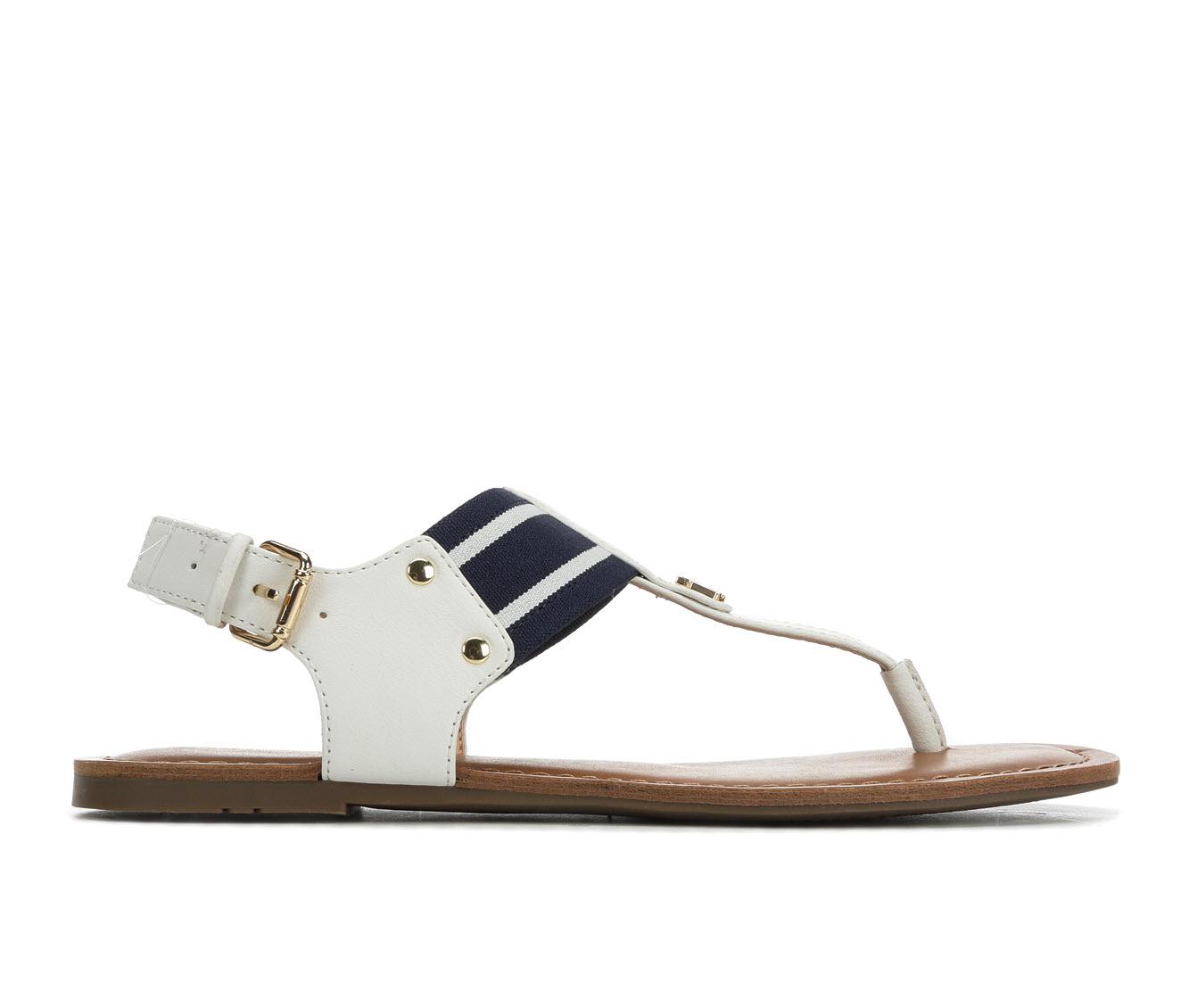 Tommy Hilfiger Lenrick Women's Sandal (White Faux Leather)