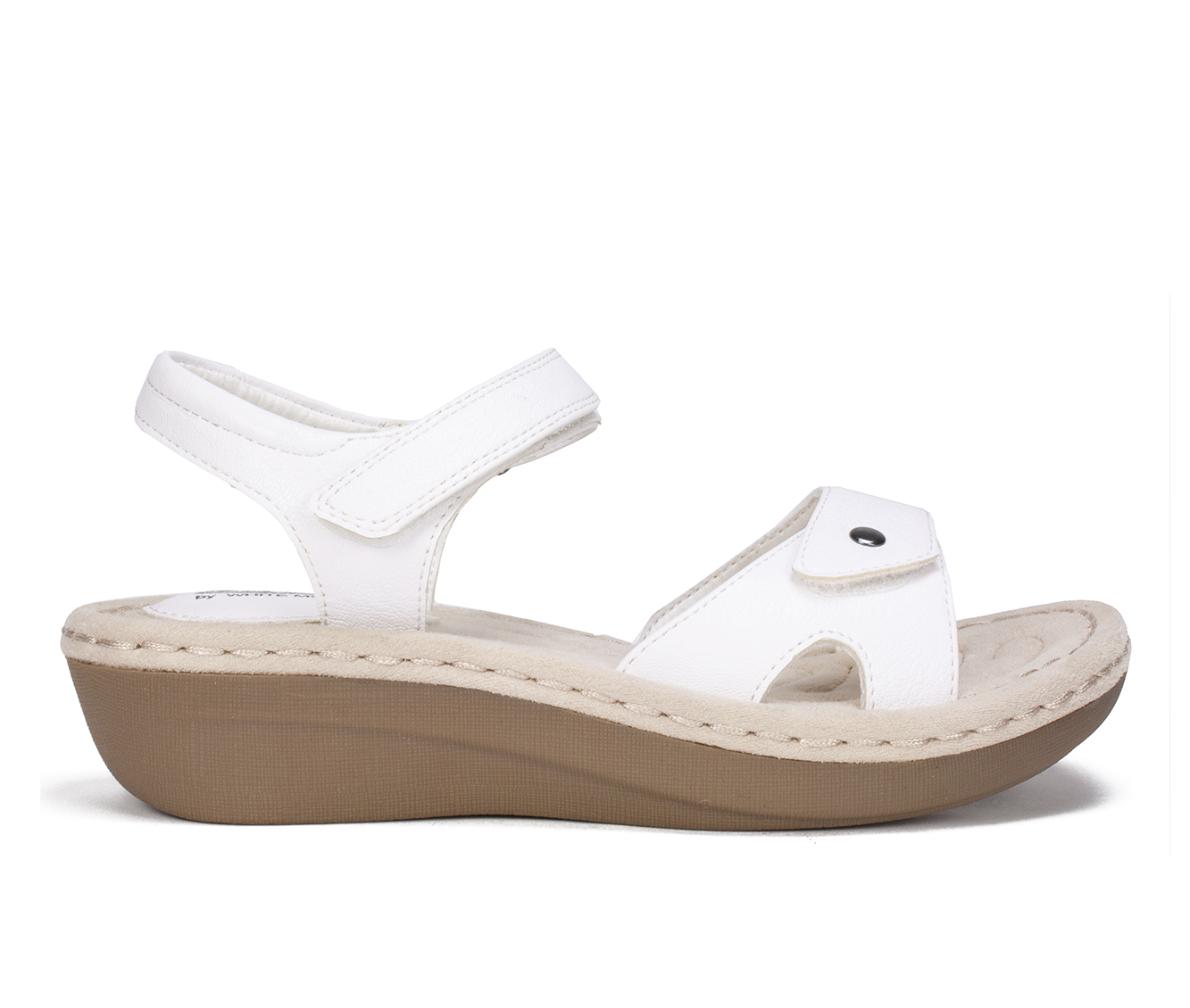 Cliffs Charlee Women's Sandal (White Faux Leather)