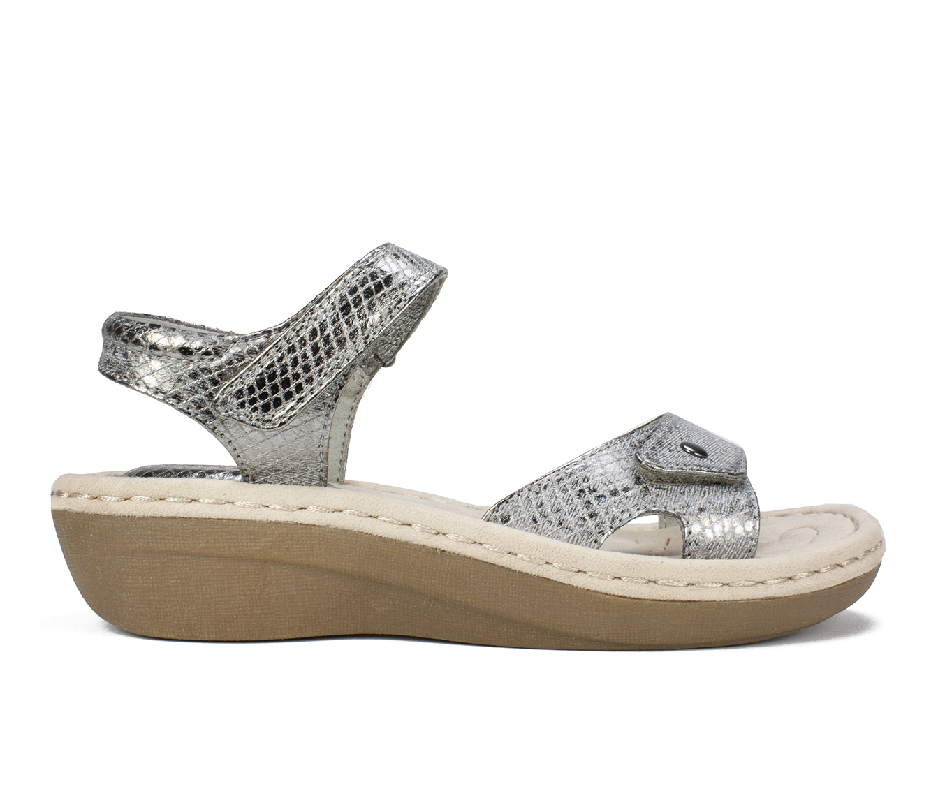Cliffs Charlee Women's Sandal (Gray Faux Leather)