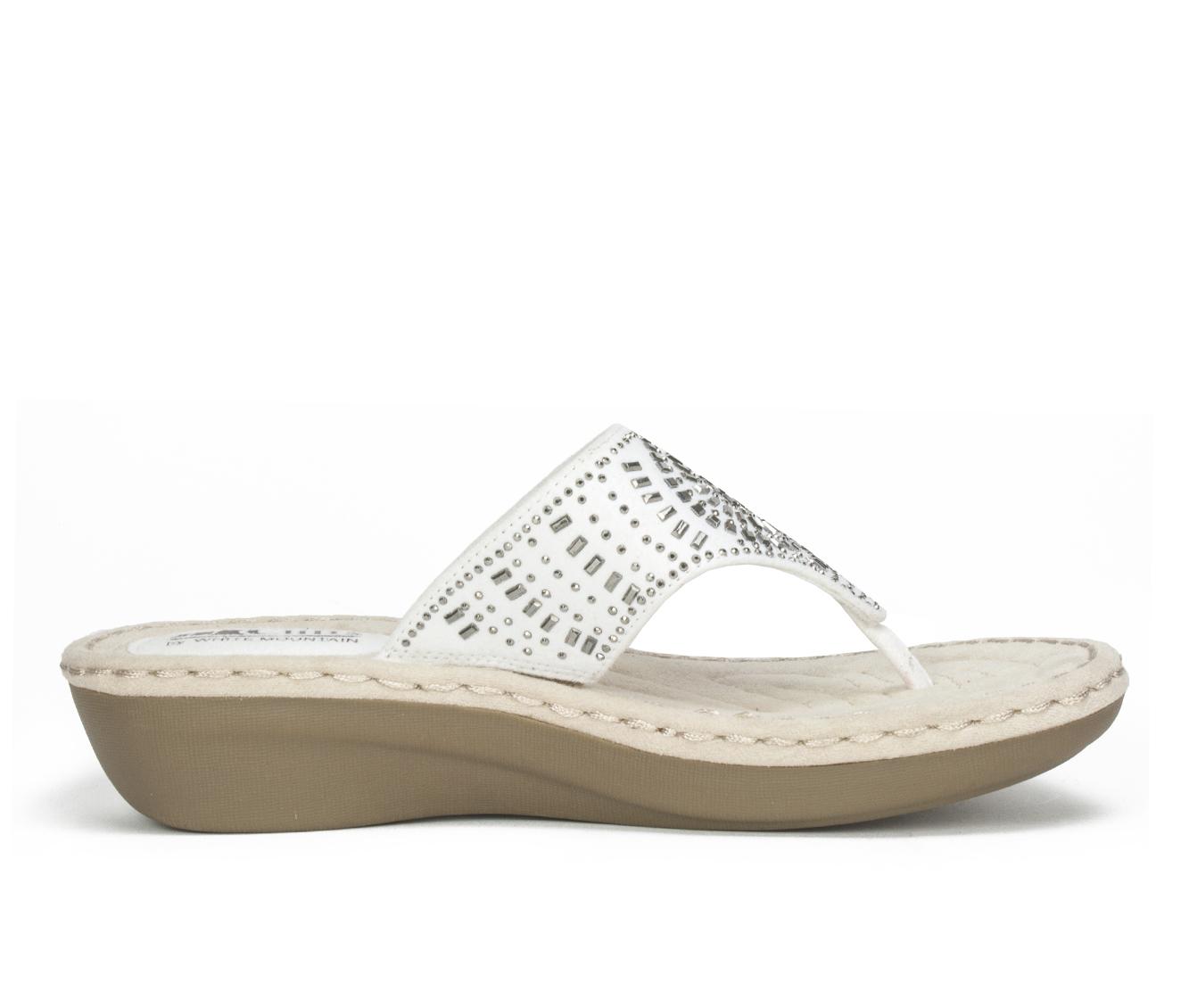 Cliffs Cienna Women's Sandal (White Canvas)