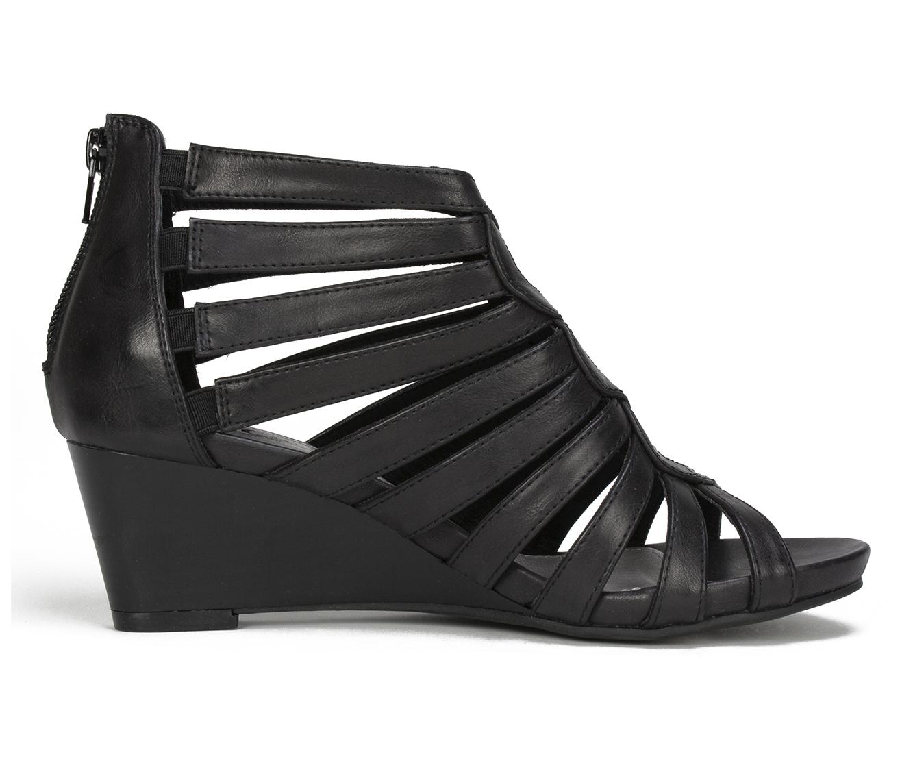Cliffs Victoria Women's Sandal (Black Faux Leather)