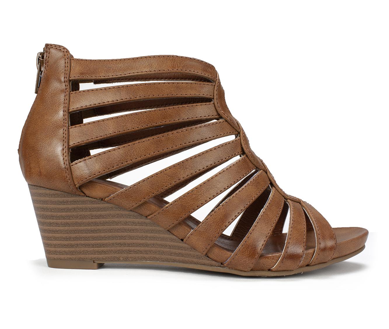 Cliffs Victoria Women's Sandal (Brown Faux Leather)