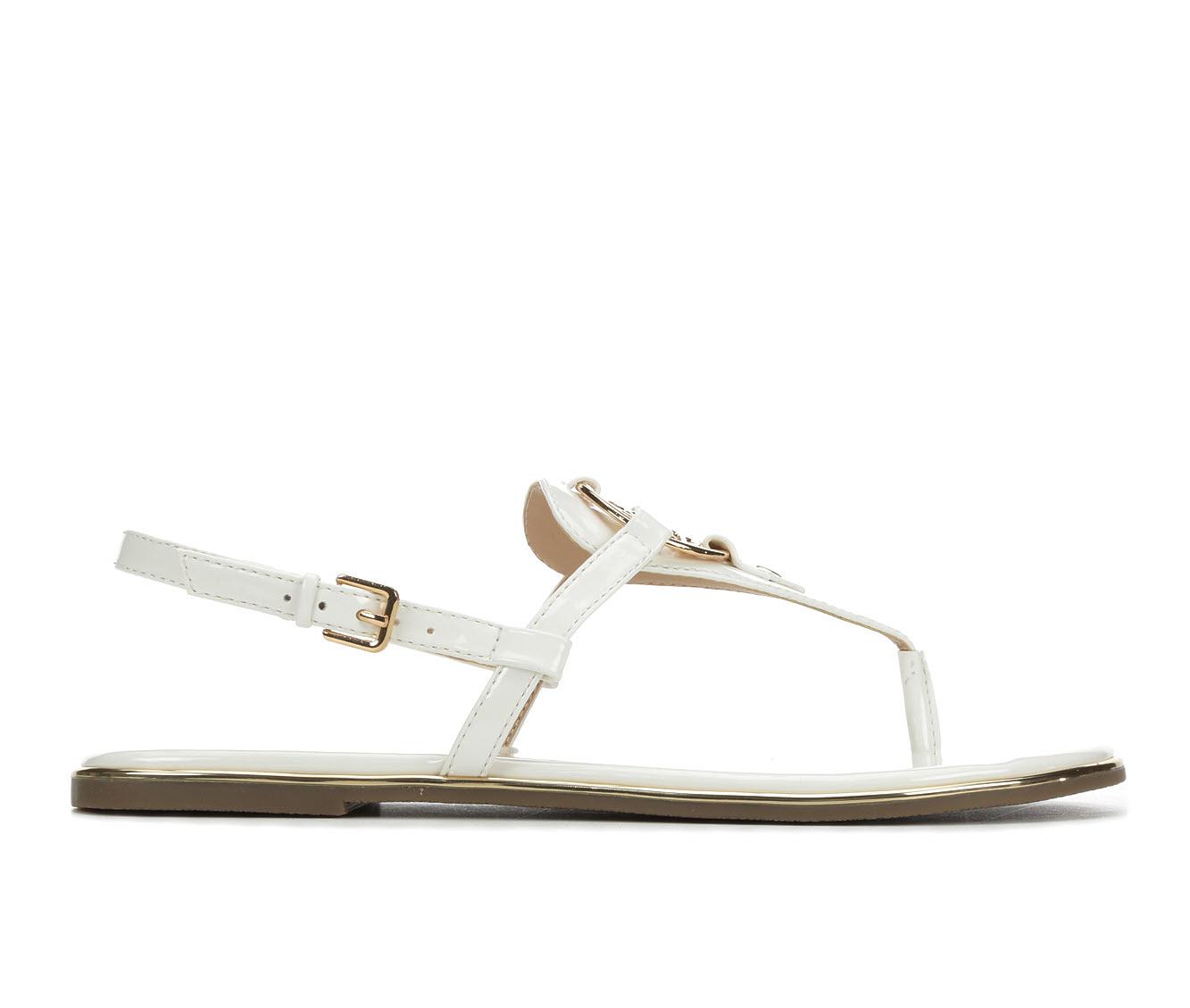 Bebe Sport Janney Women's Sandal (White Faux Leather)