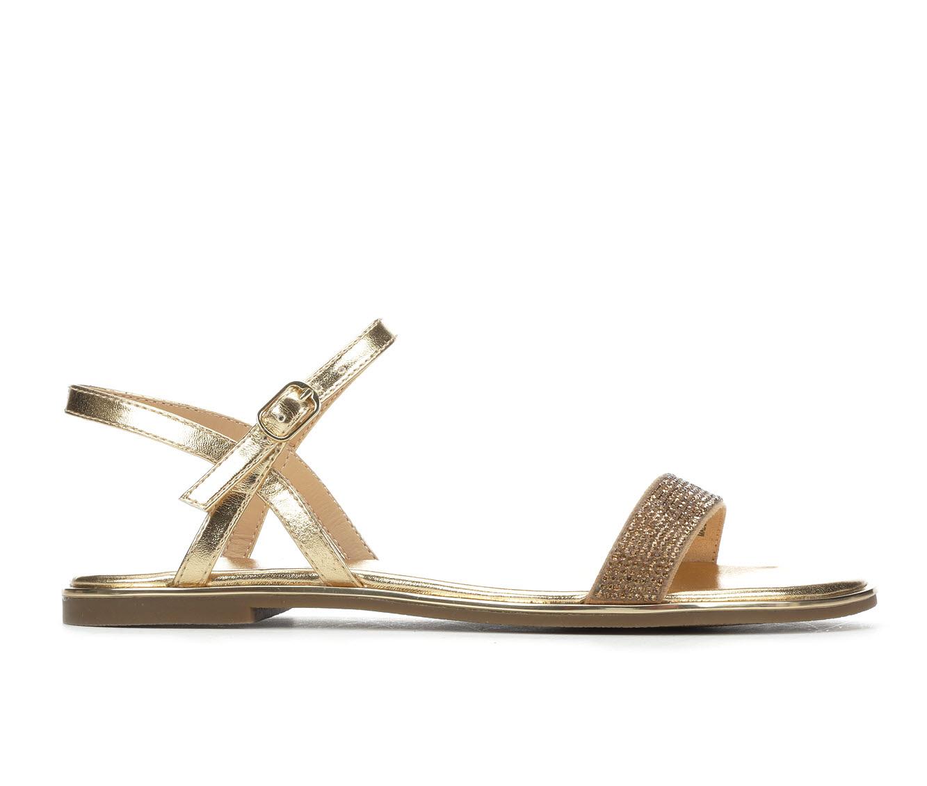 Bebe Sport Brilynn Women's Sandal (Gold Faux Leather)